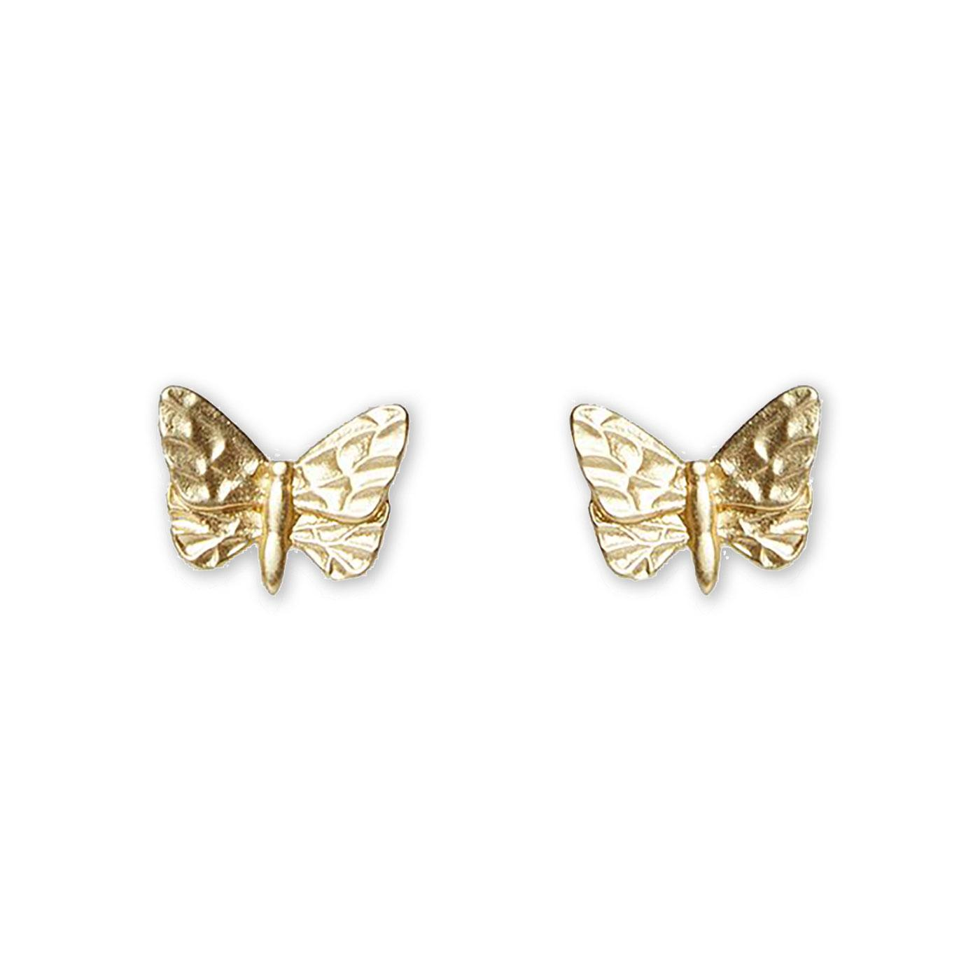 Abdon LOUCHE Vintage Butterfly Stud Earrings