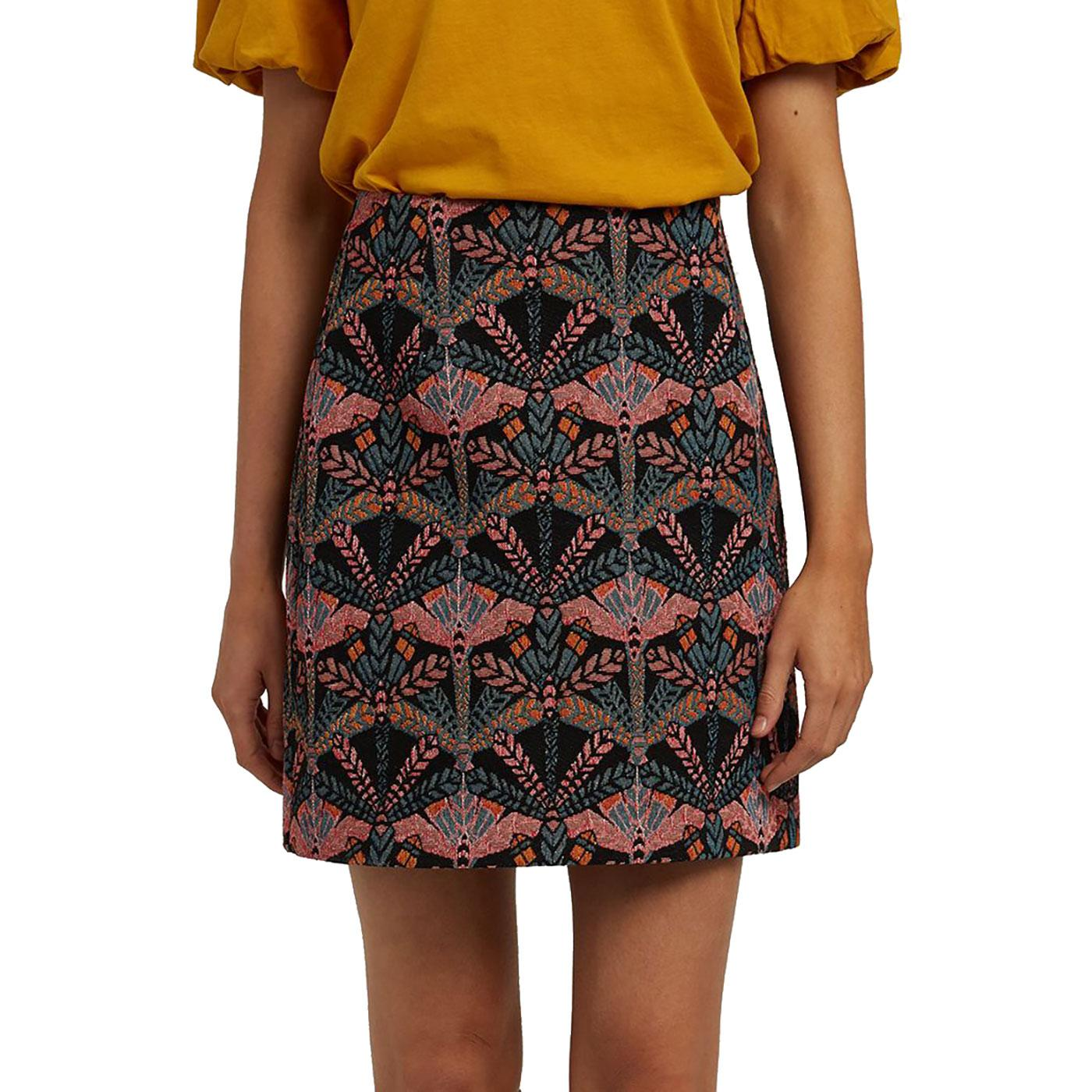 Aubin LOUCHE Woven Jacquard Dragonfly Mini Skirt