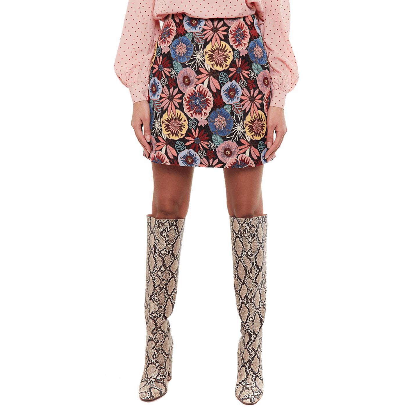 Aubin LOUCHE Jacquard Flower Power Mini Skirt B/P