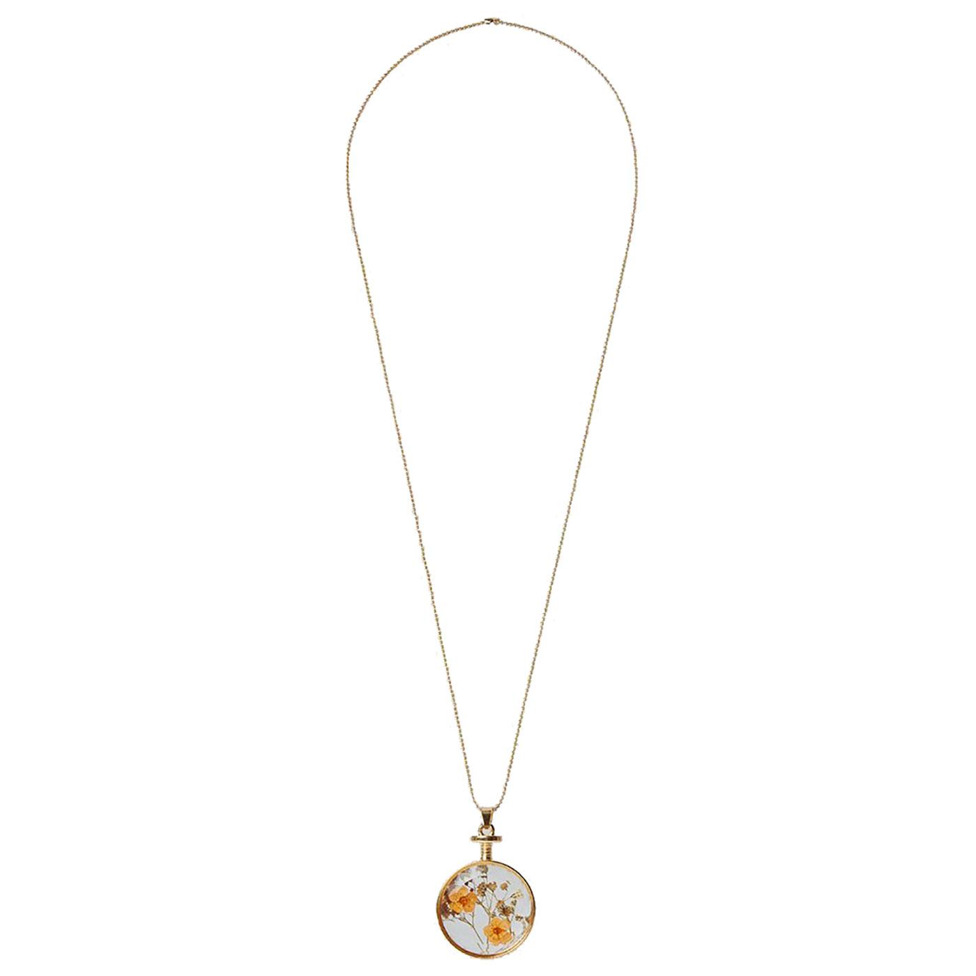 Bani LOUCHE Vintage Pressed Flower Necklace O