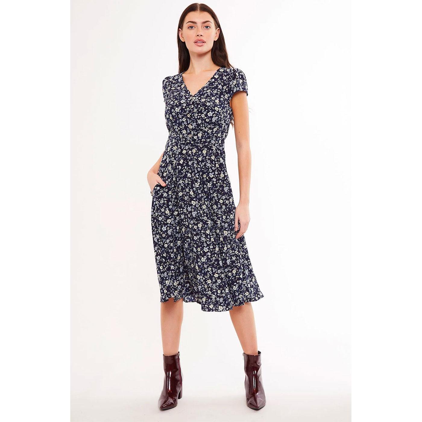 Cathleen LOUCHE Retro Midi Dress in Country Rose