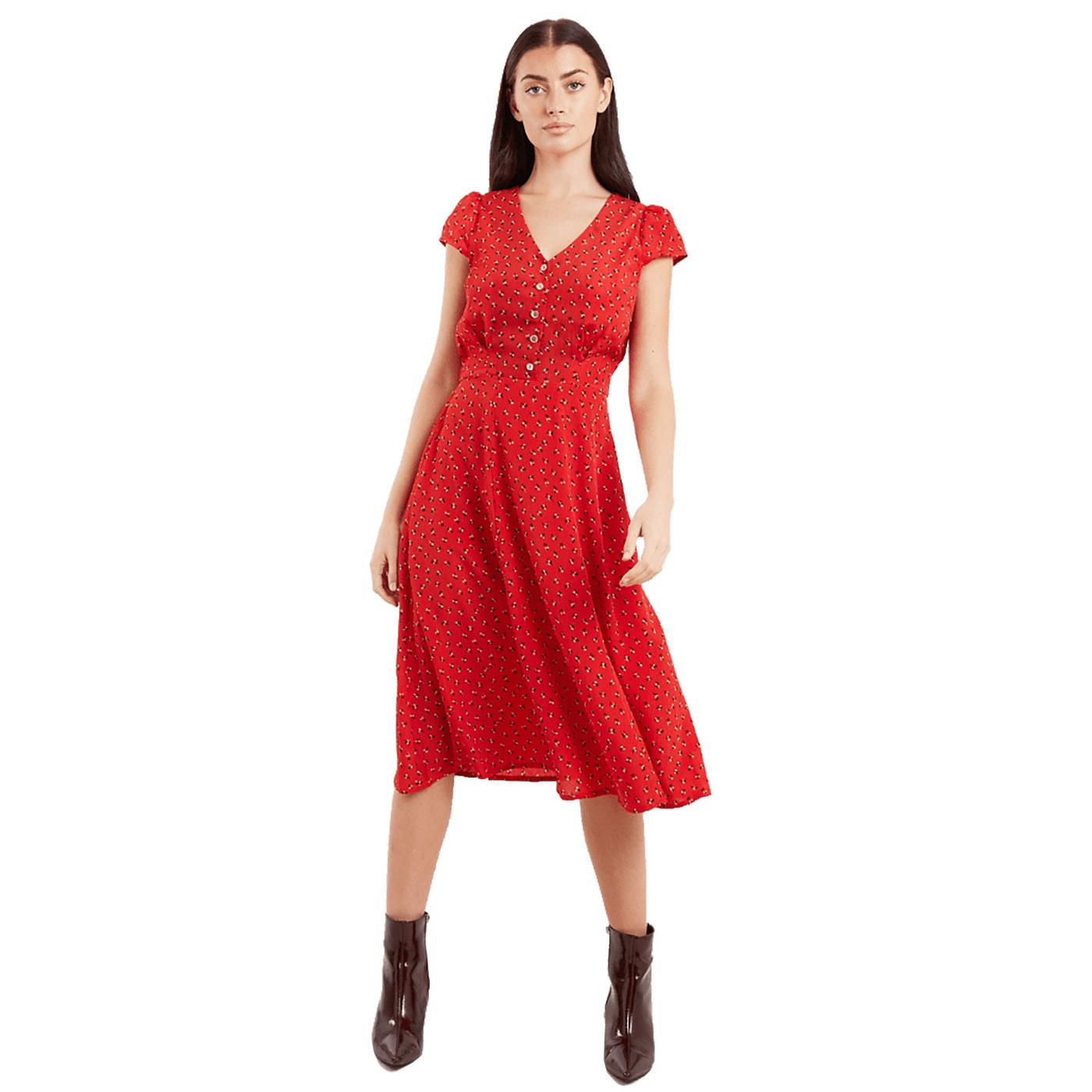Cathleen LOUCHE Double Bud Summer Midi Dress