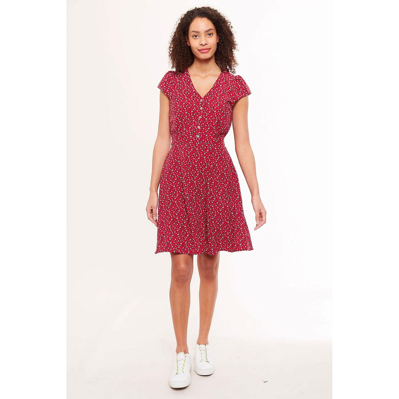 Cathleen LOUCHE Mini Dress in Red Forget Me Not