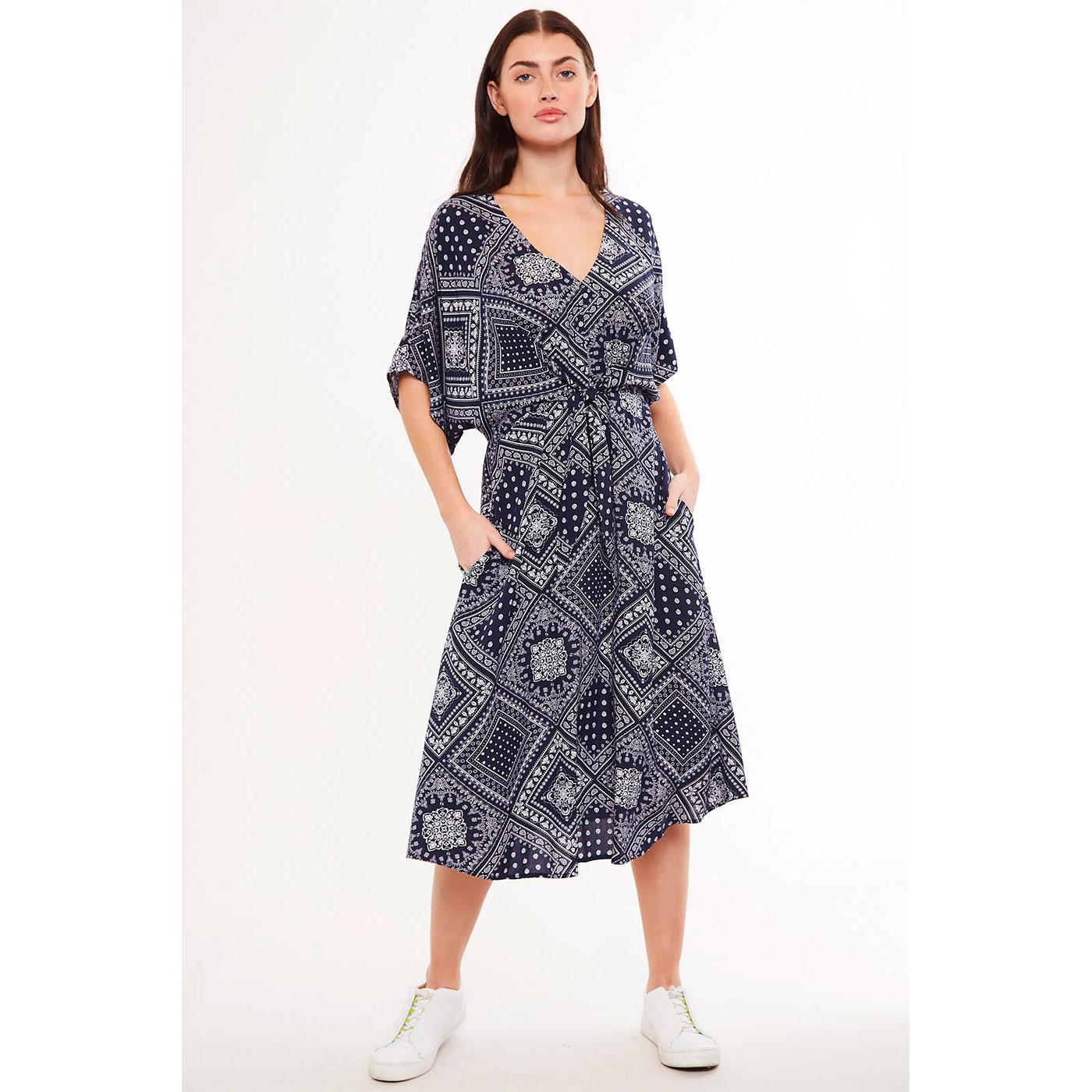 Elody LOUCHE LONDON 70s Bandana Print Midi Dress