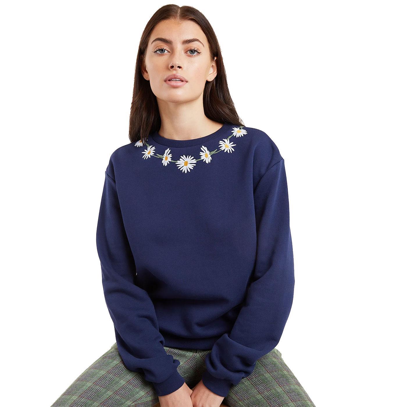 Jan LOUCHE Daisychain Embroidered Sweatshirt (N)