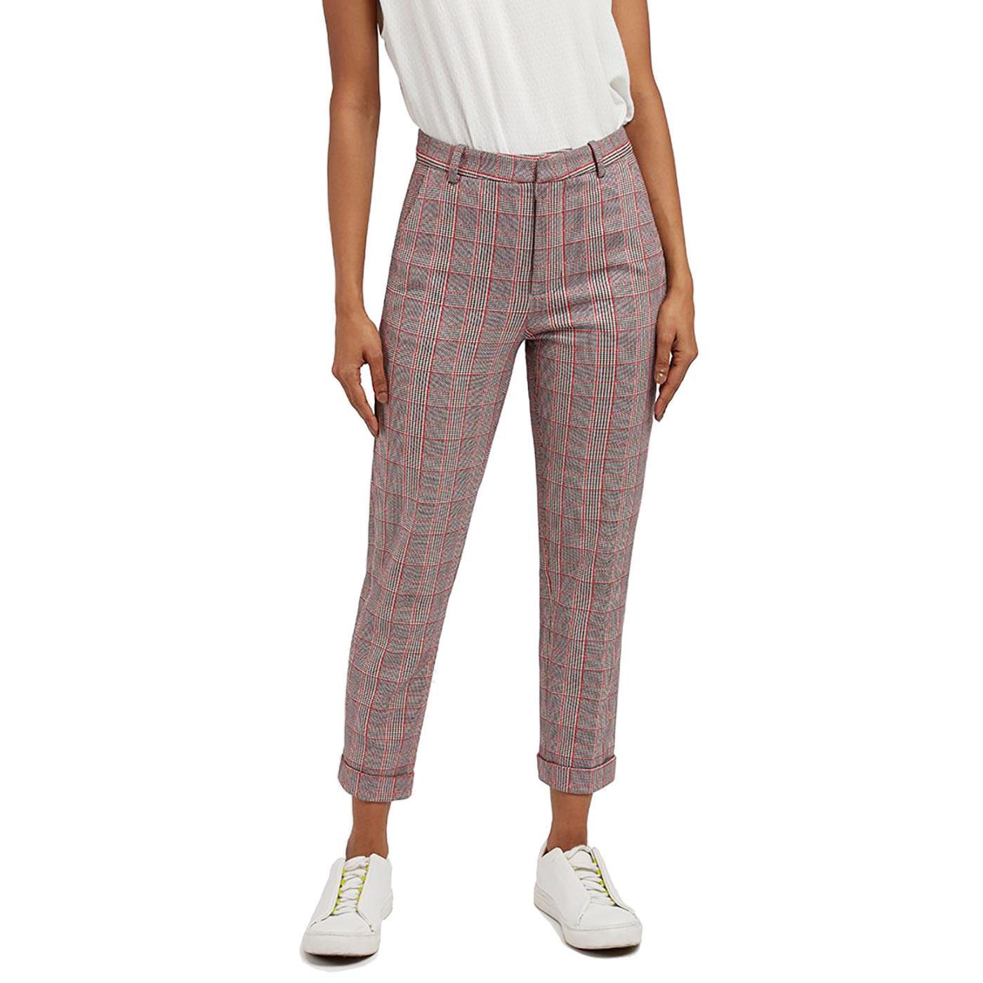 Jaylo LOUCHE Women's Retro Cropped Check Trousers