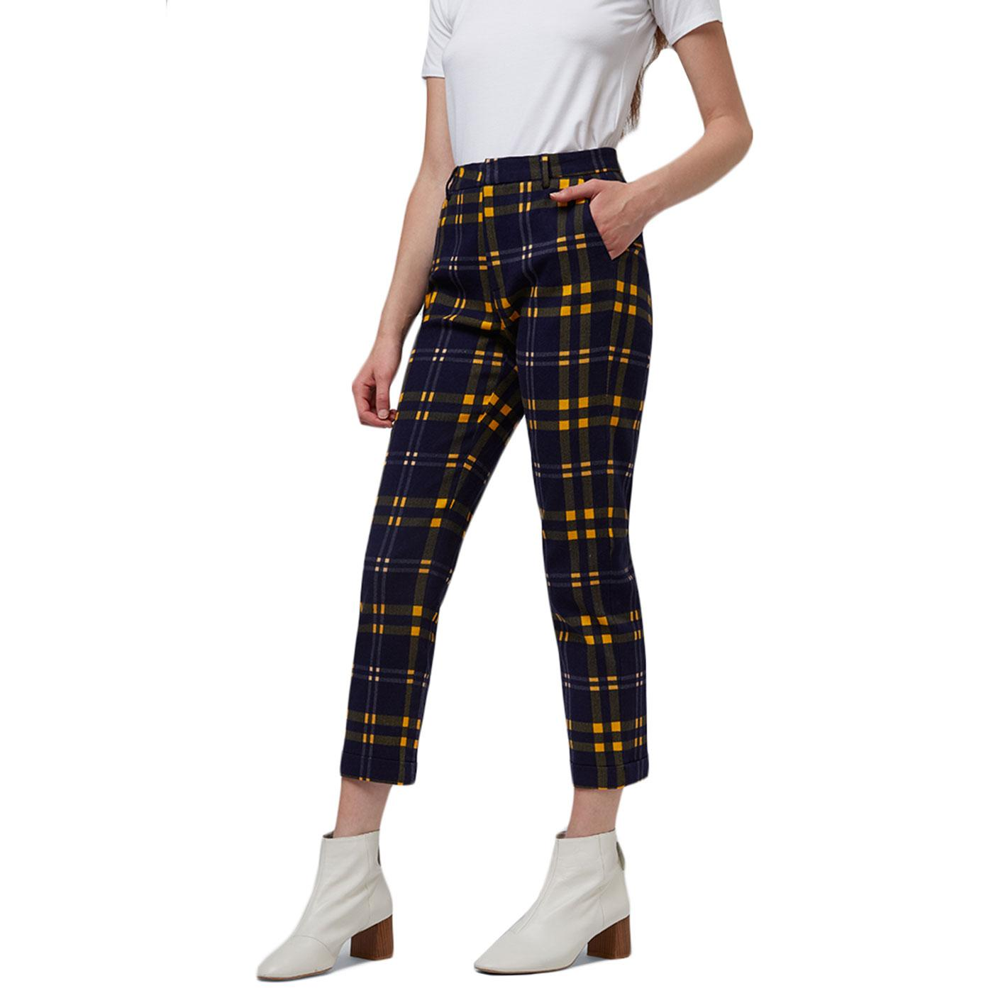 Jaylo LOUCHE Retro 60s Checkmate Skinny Trousers