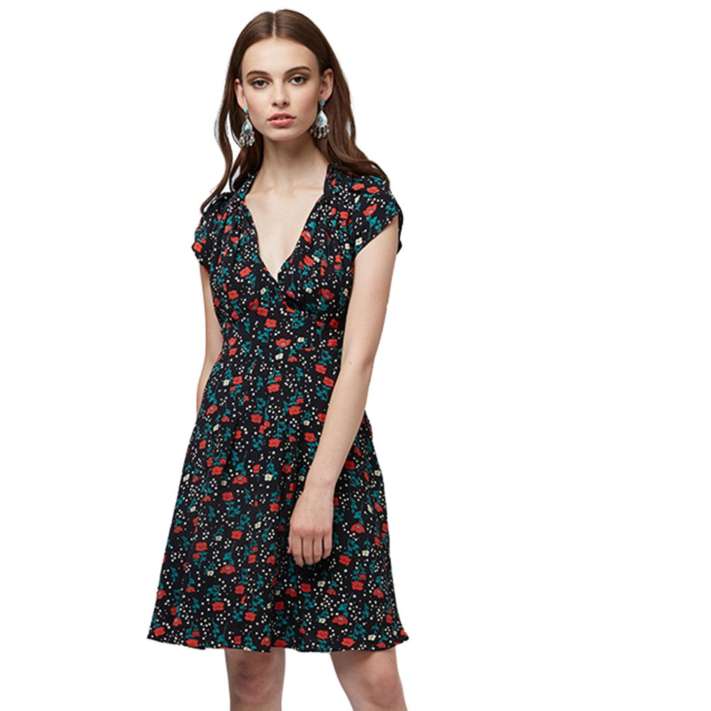 Melita LOUCHE Retro Floral Sweetheart Summer Dress