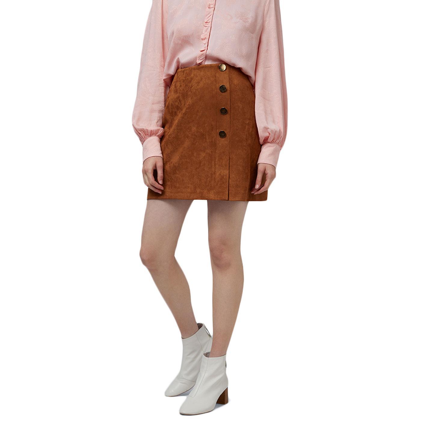 Meryl LOUCHE Retro 60s Mod Suedette Mini Skirt