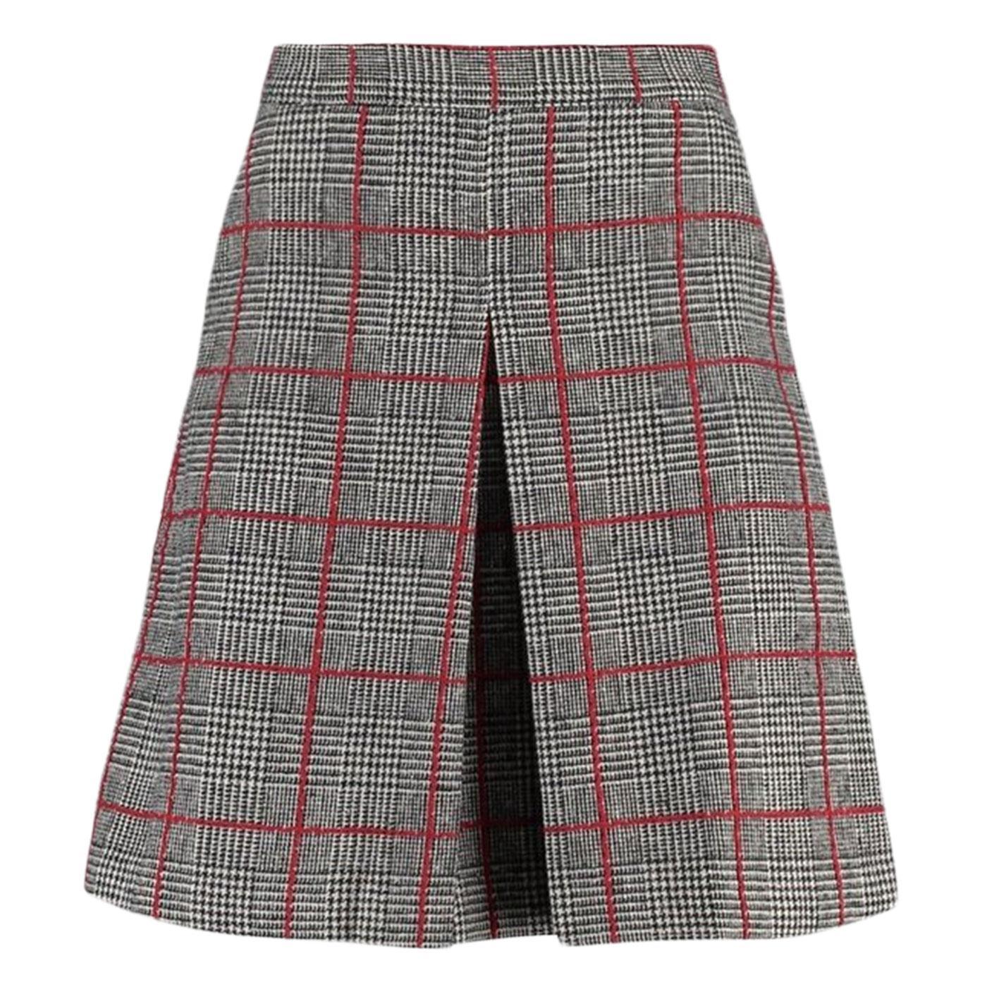 Lamont LOUCHE LONDON 60s Mod POW Check Pleat Skirt