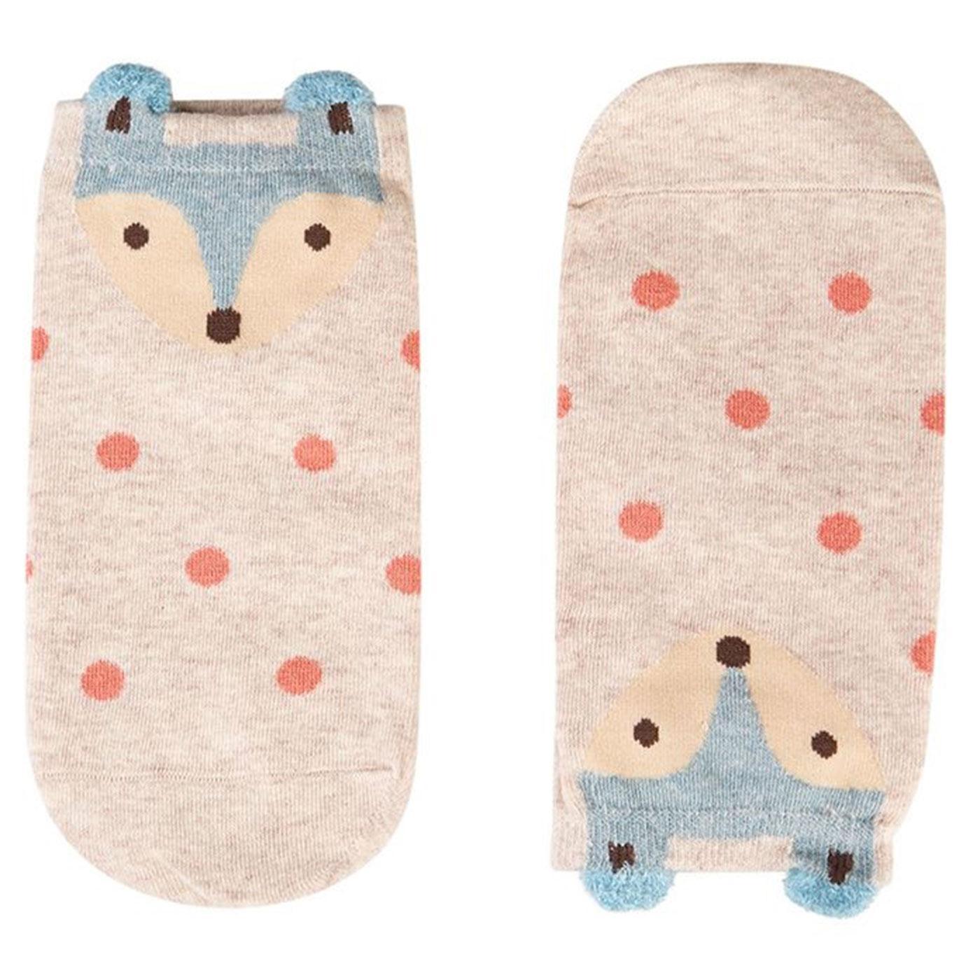 Rae LOUCHE Women's Retro Spotty Fox Socks
