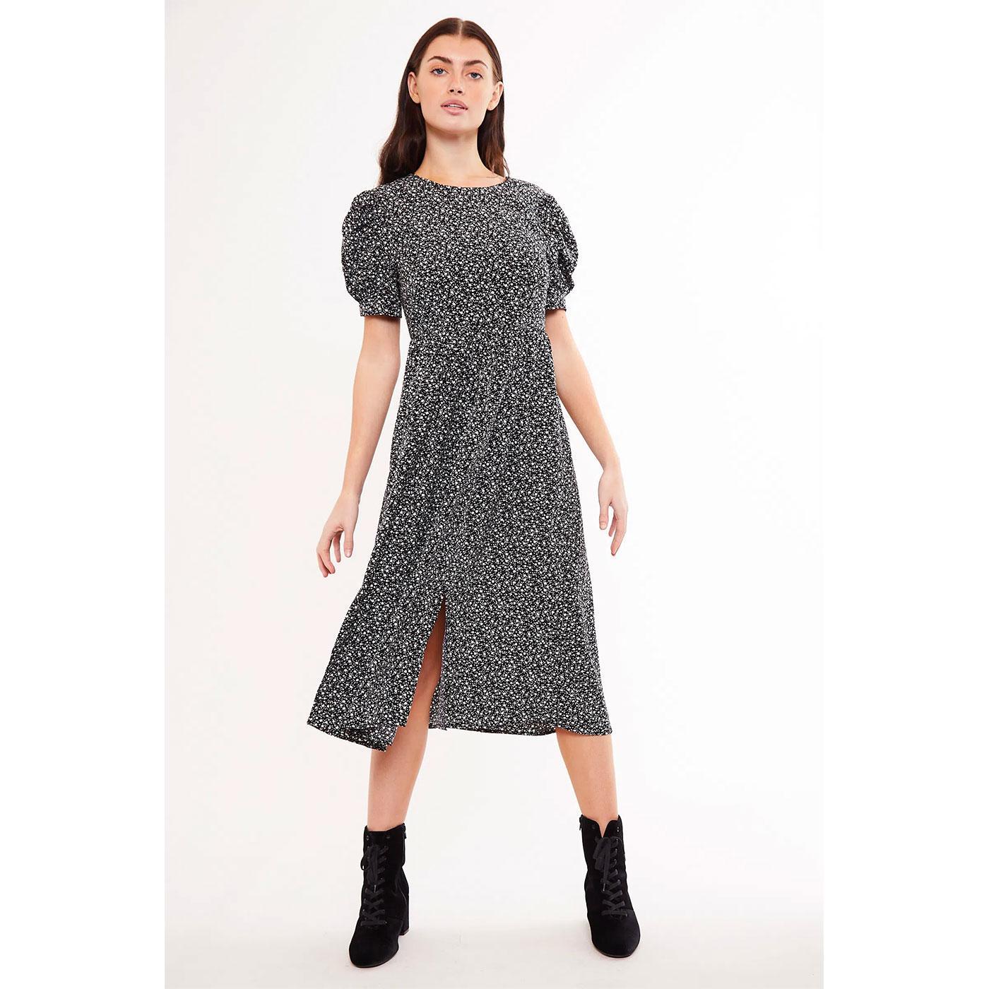 Stasia LOUCHE LONDON Retro Side Split Midi Dress