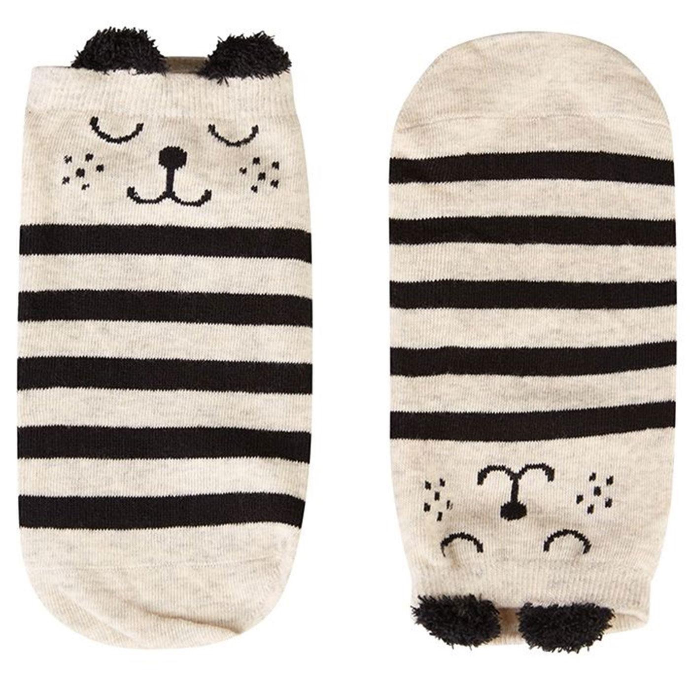 Sophia LOUCHE Women's Retro Striped Bear Socks