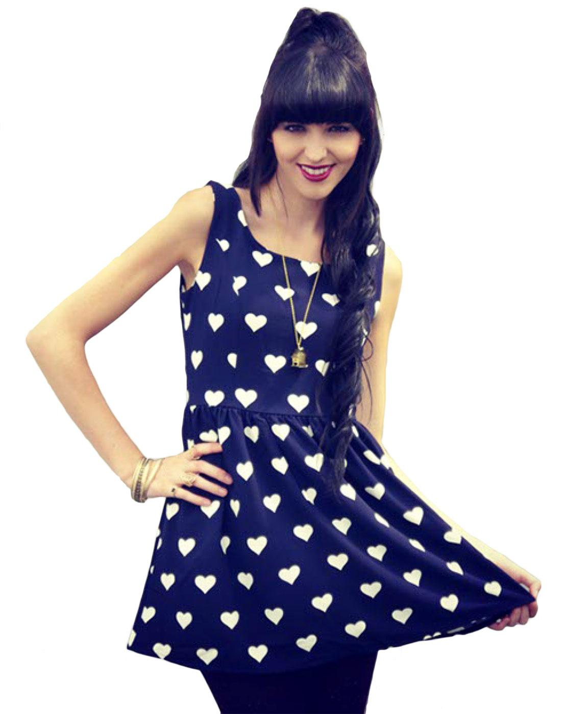 Hannah LOVESTRUCK Retro 60s Vintage Skater Dress