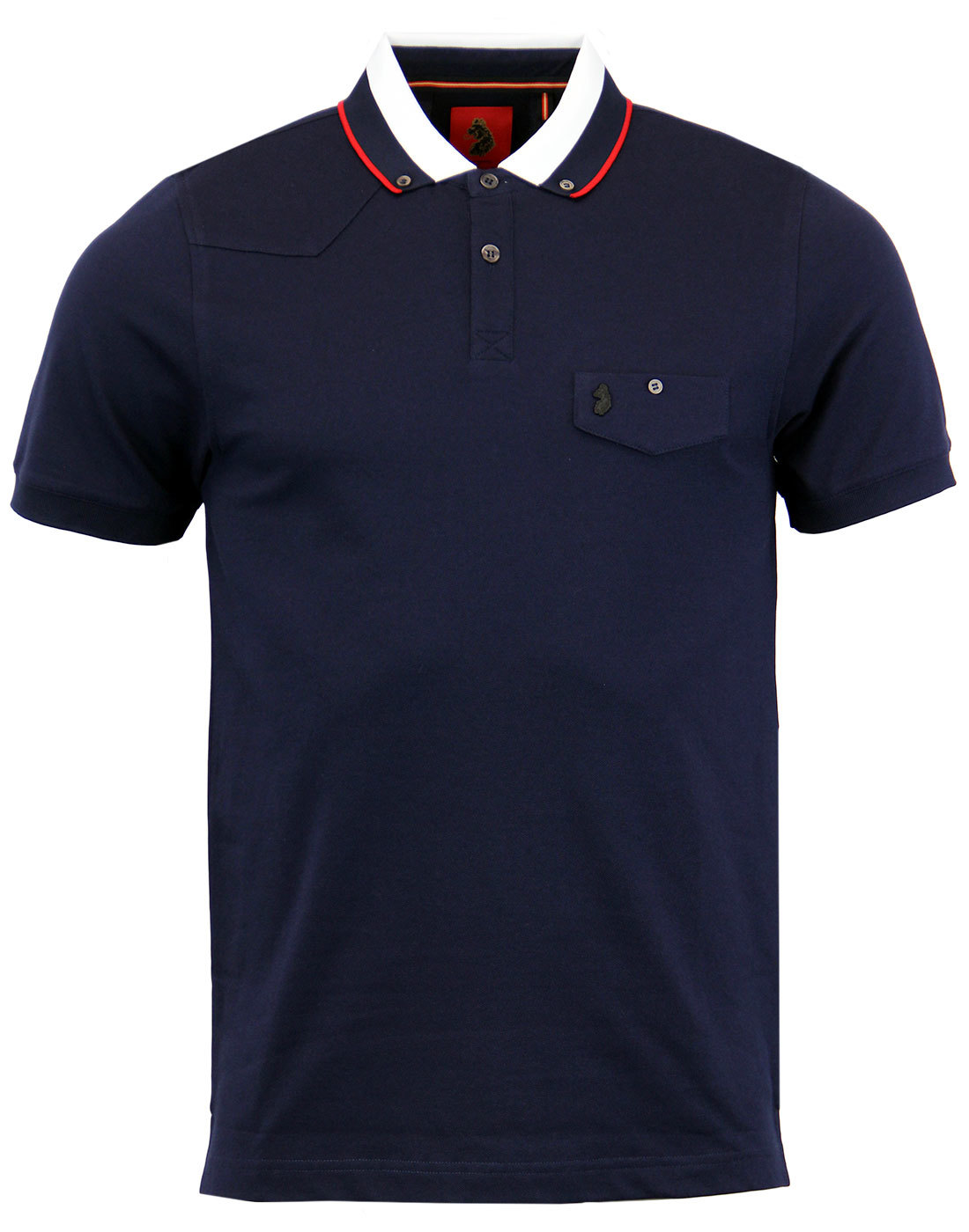 Airbright LUKE 1977 Retro Sixties Mod Tipped Polo