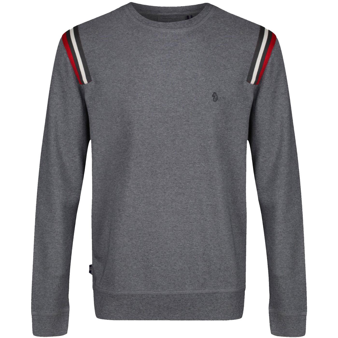 Palma LUKE Retro Shoulder Stripe Tape Sweatshirt