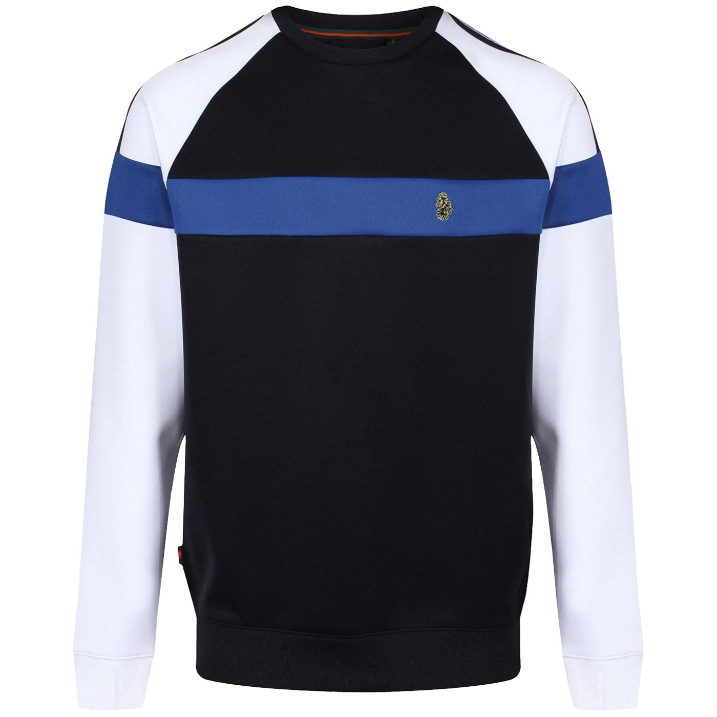 LUKE Adam 3 Retro Indie Colour Block Sweatshirt DN