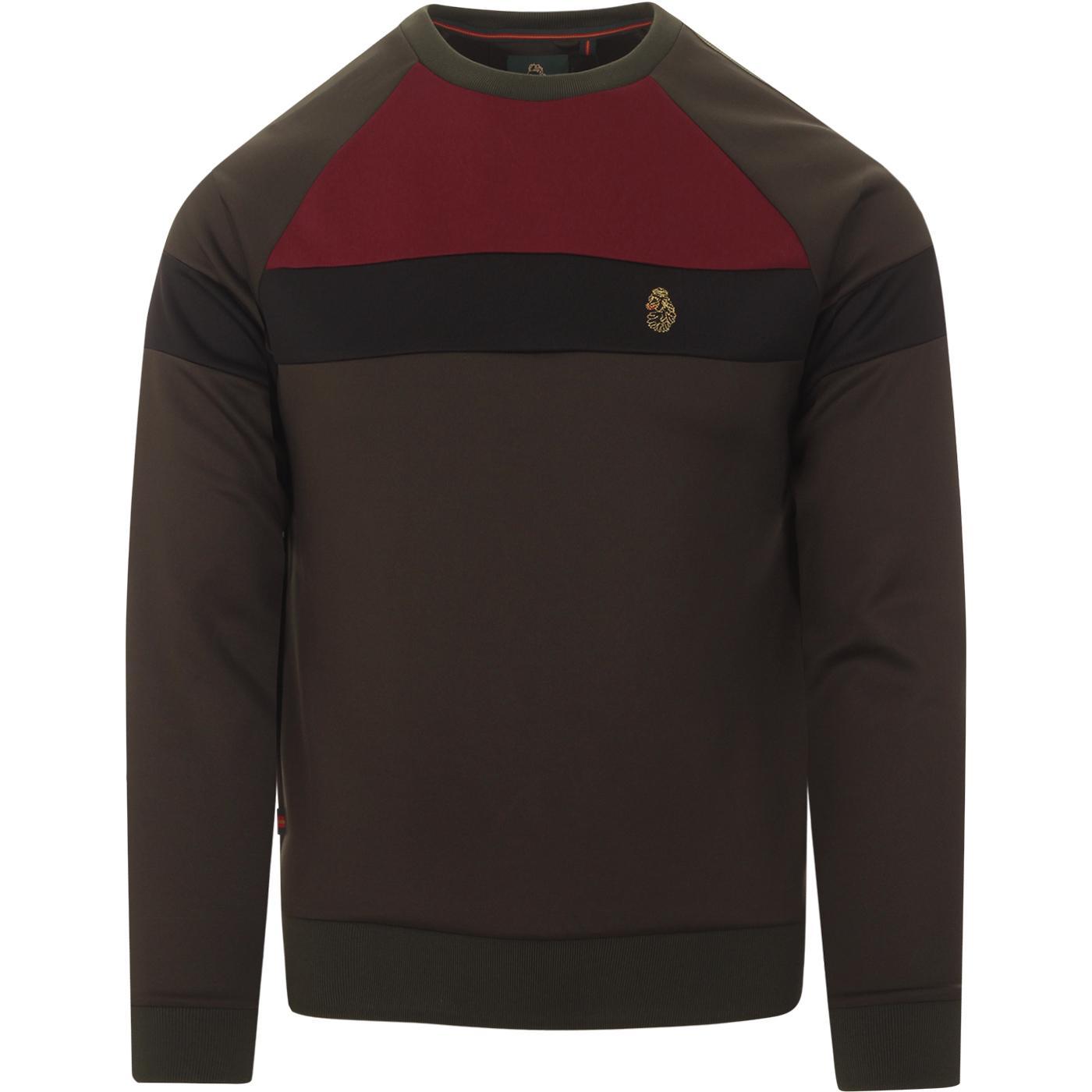 Adam 3 LUKE Retro Colour Block Tricot Sweatshirt O