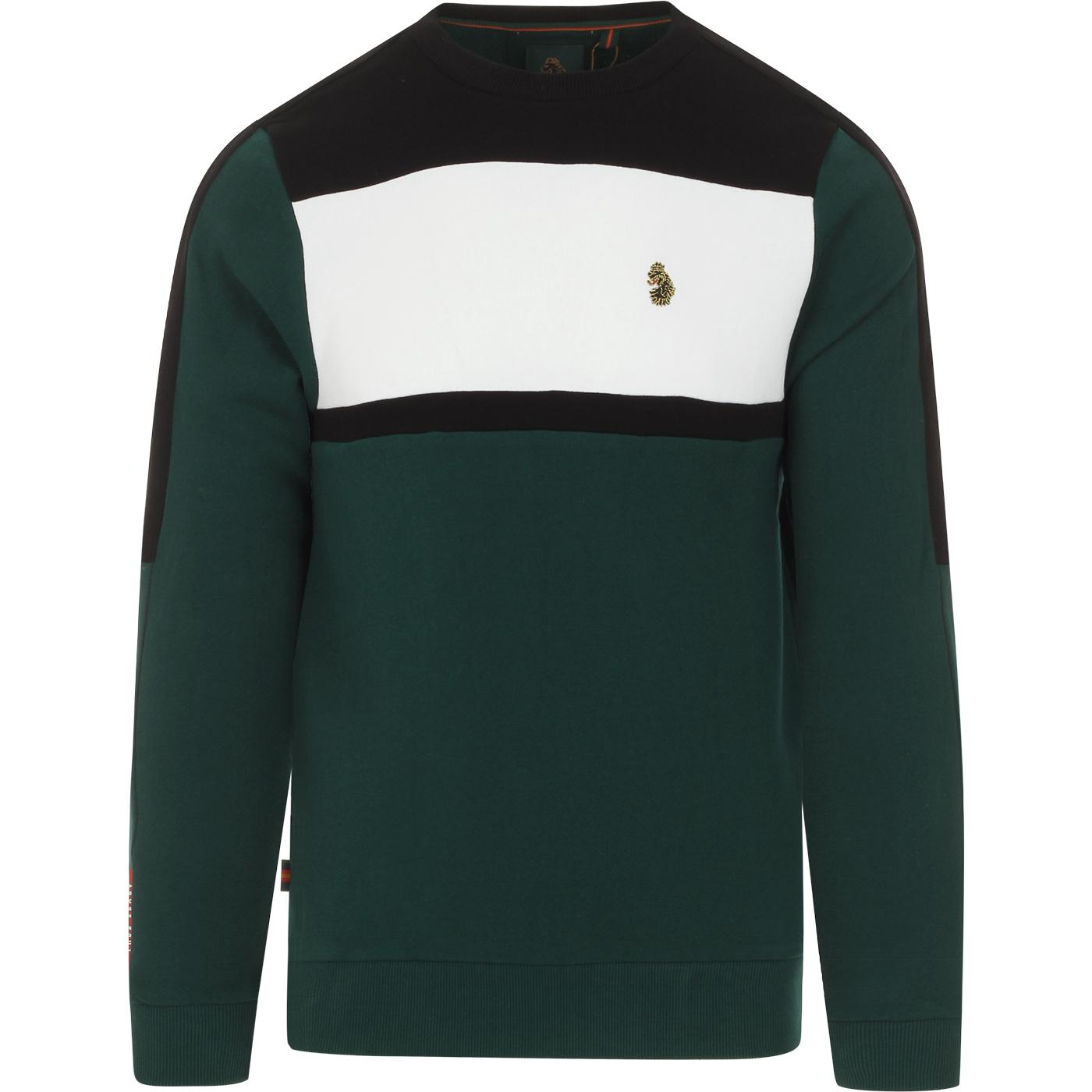 Badsey LUKE Retro 90s Colour Block Sweatshirt (EG)