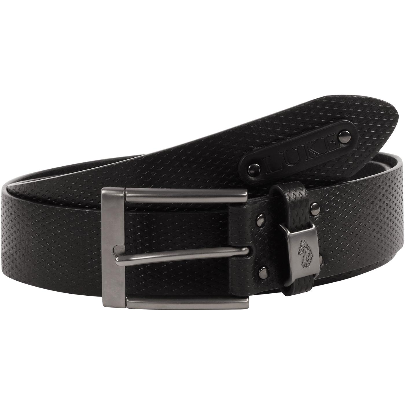 Blair LUKE 1977 Retro Leather Texture Belt - Black
