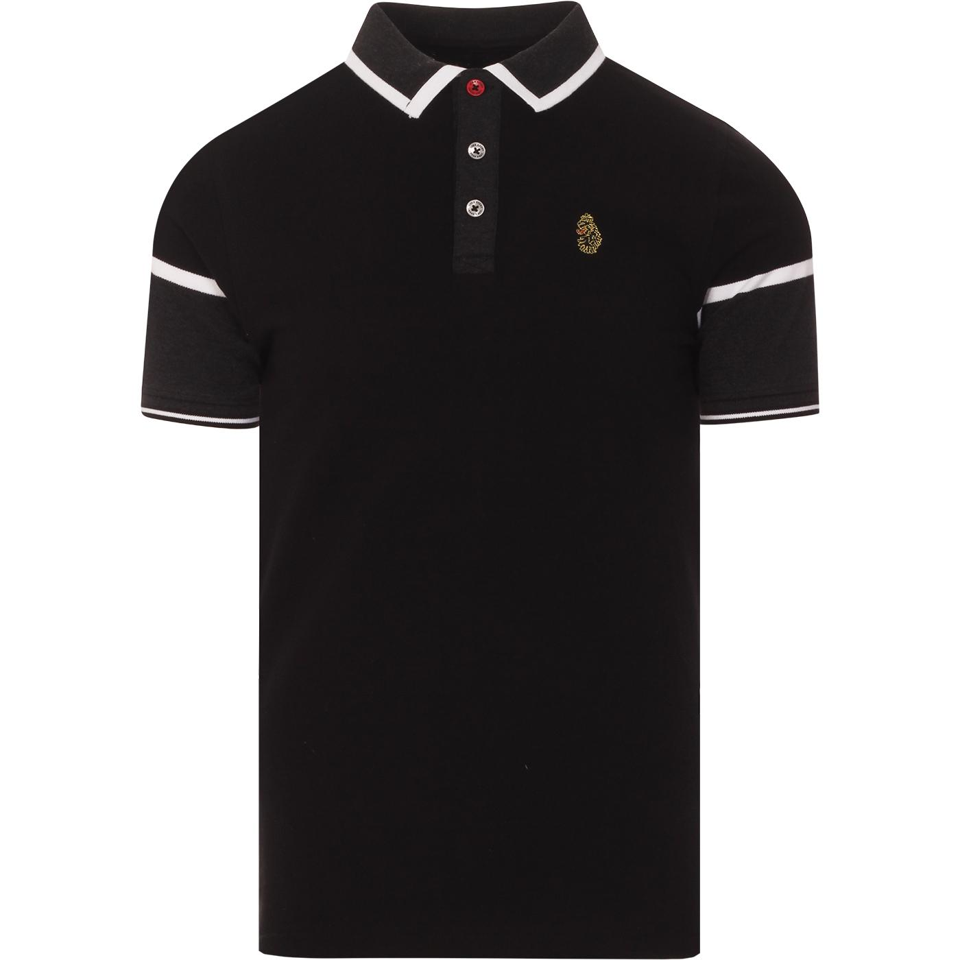 Boyo LUKE Retro Mod Tipped Pique Polo Shirt (JB)