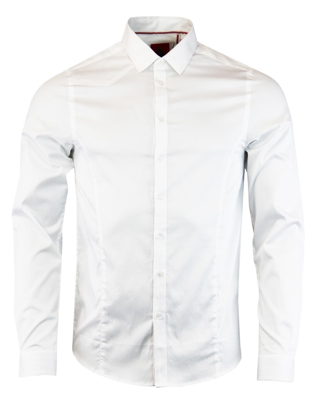 Butchers Pencil LUKE 1977 Mod Slim Fit Shirt WHITE
