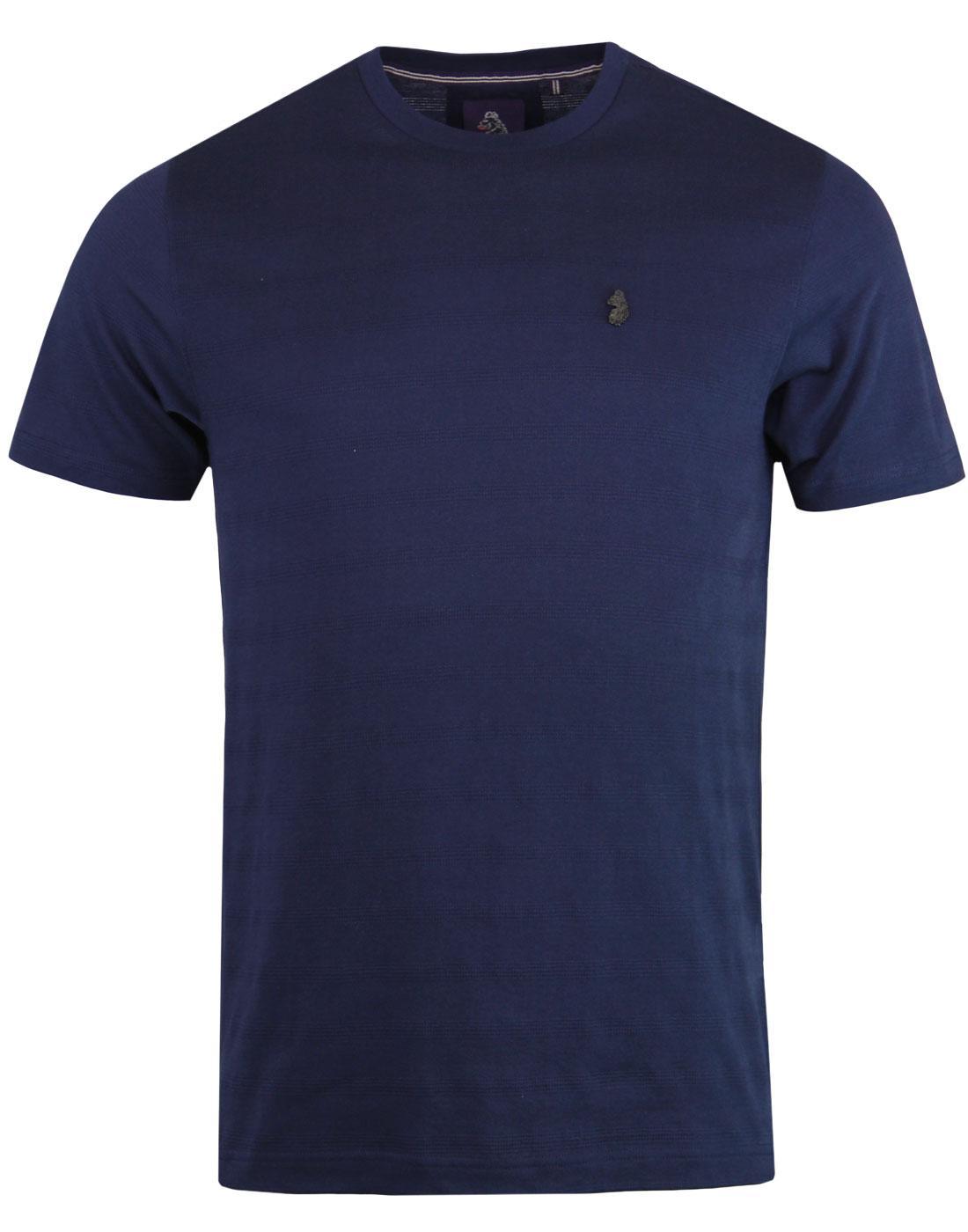 Cultraised LUKE Retro Micro Rib Crew T-shirt NAVY