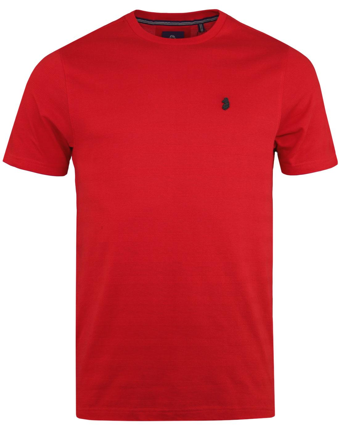Cultraised LUKE Retro Micro Rib Crew T-shirt RED