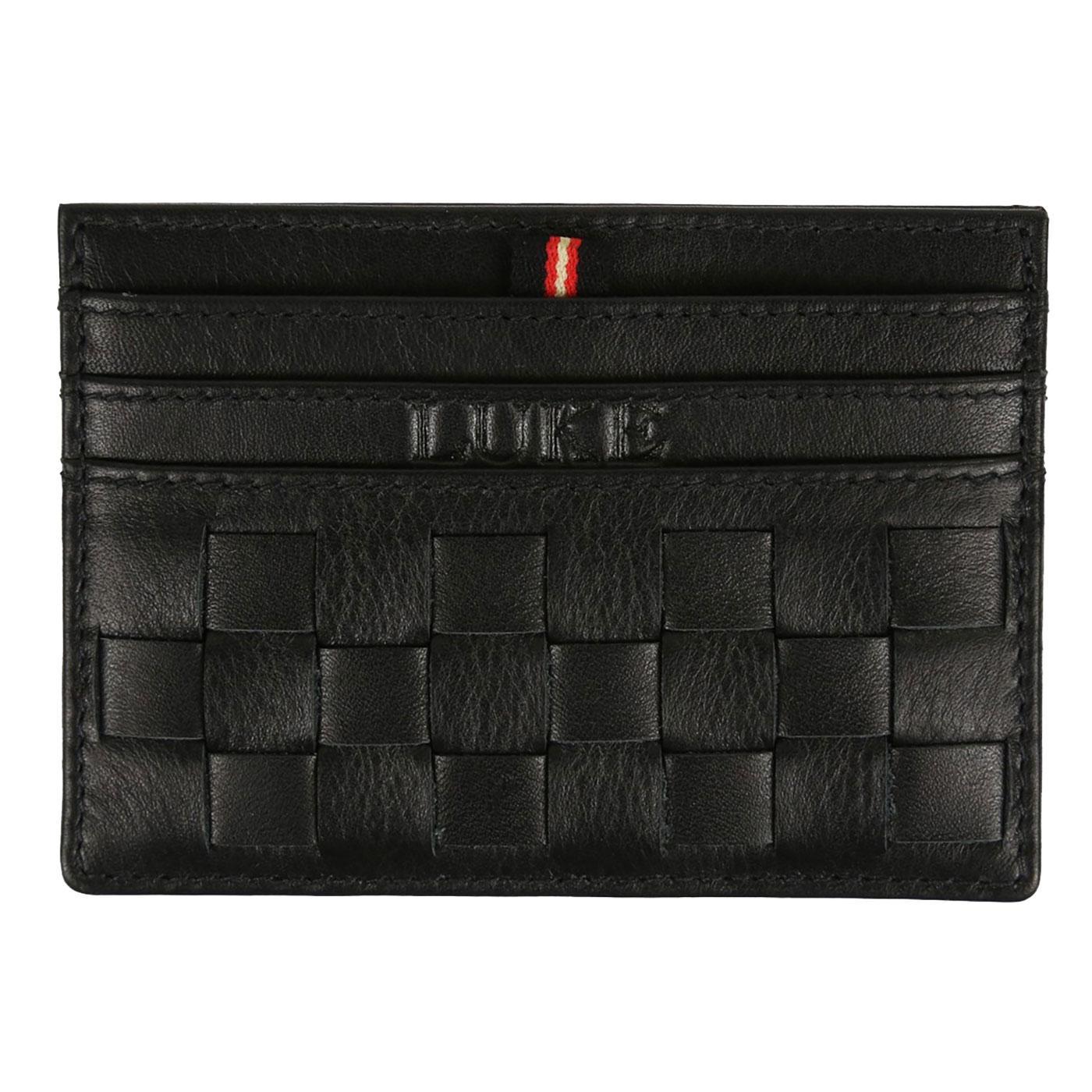 Darkes LUKE Leather Basket Weave Cardholder