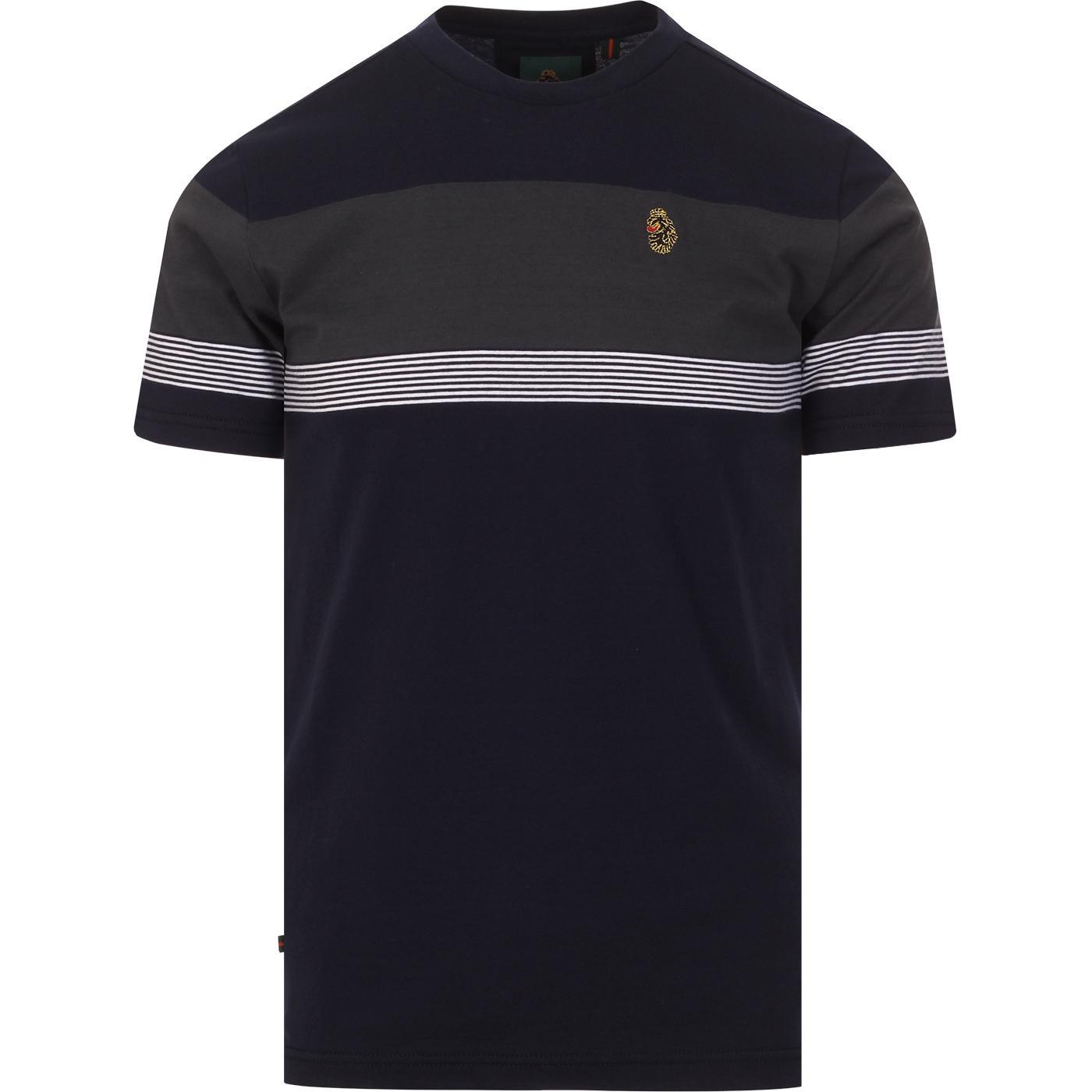 Dublin LUKE Retro Mod Chest Stripe T-shirt (DN)