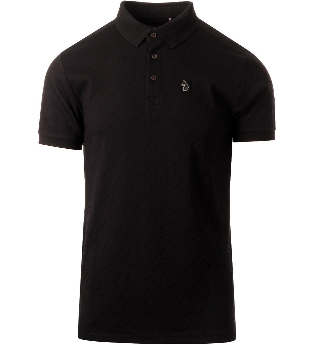 Elliot LUKE Men's All Over Jacquard Logo Polo B