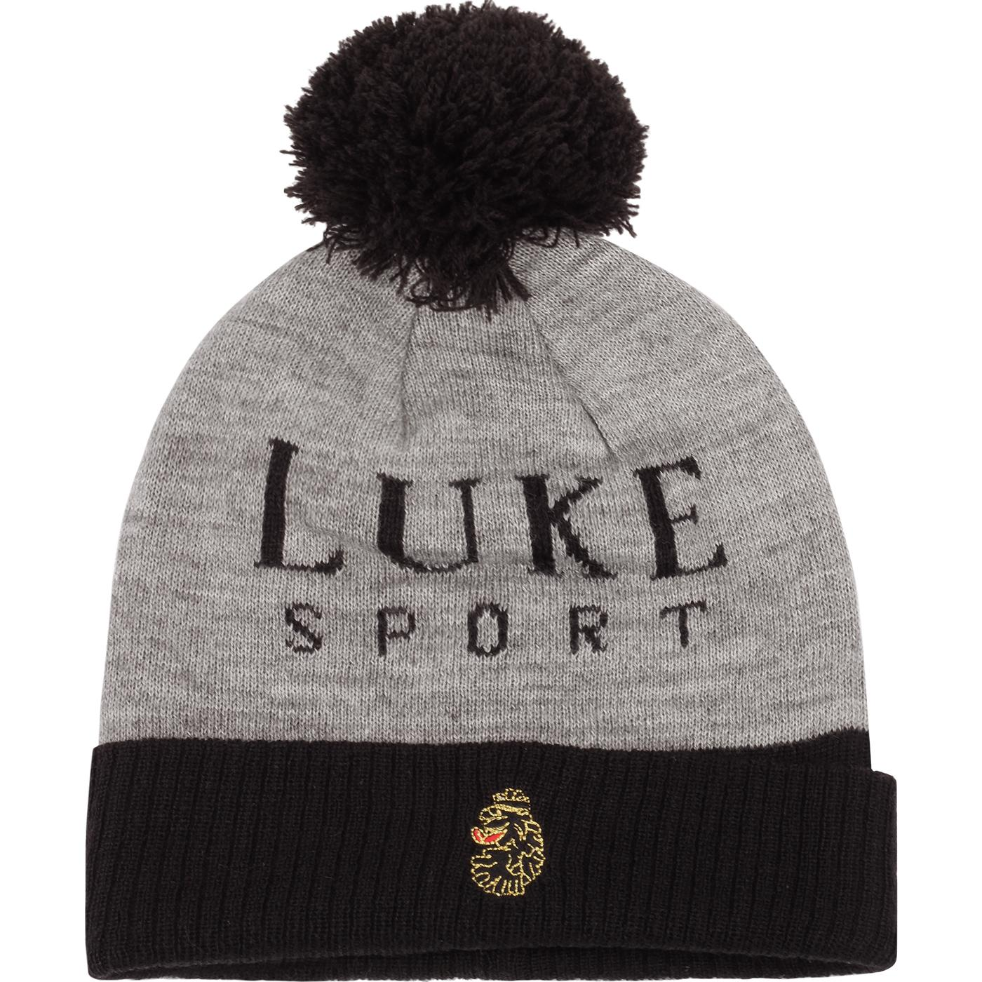 Flack LUKE Retro Two Tone Bobble Hat (Charcoal)