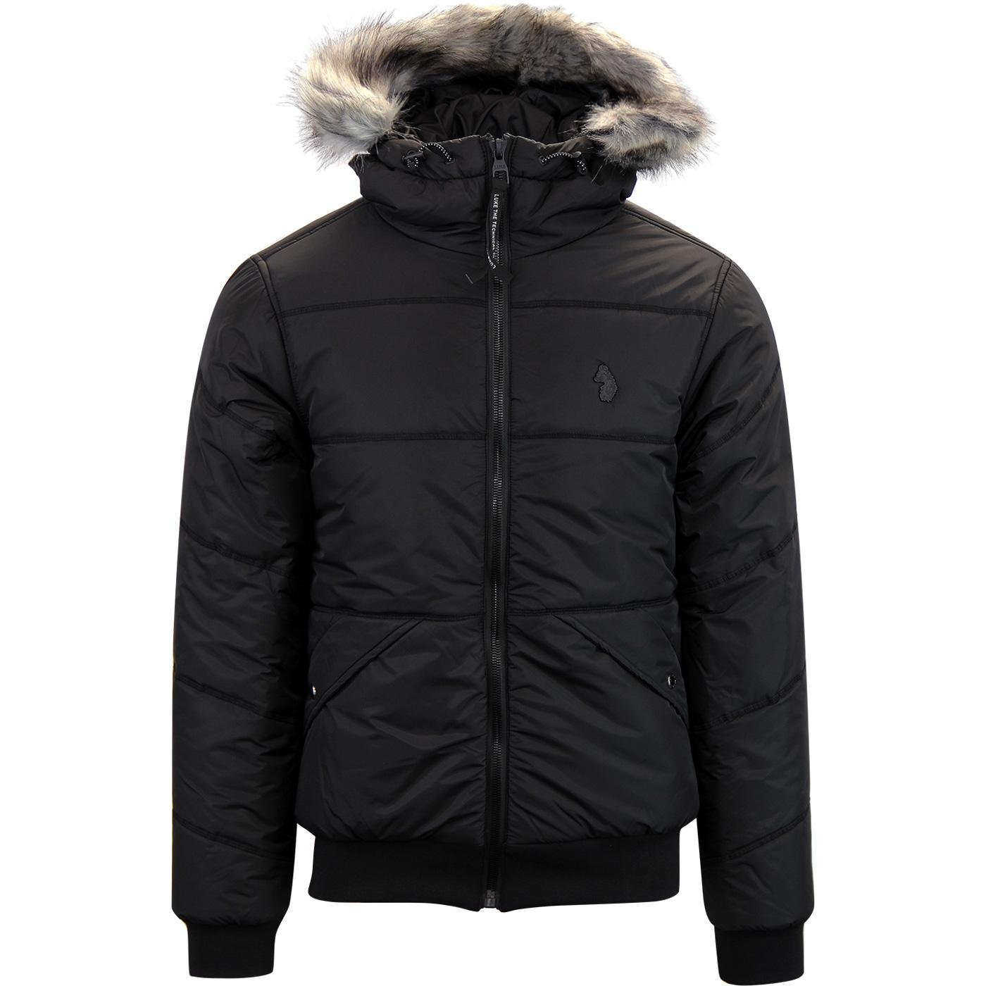 Forest LUKE Retro Hooded Quilted Bomber Jacket