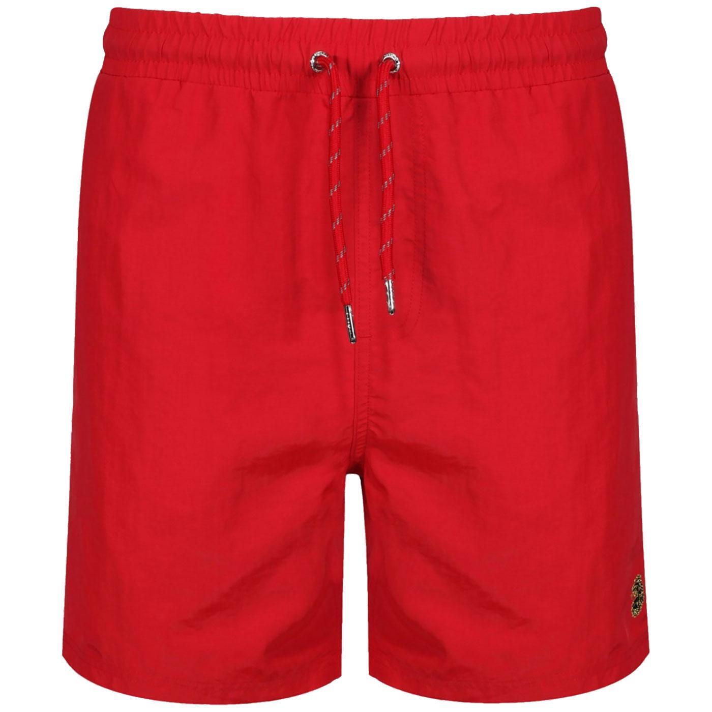 Great LUKE SPORT Mens Retro Swim Shorts TECH RED