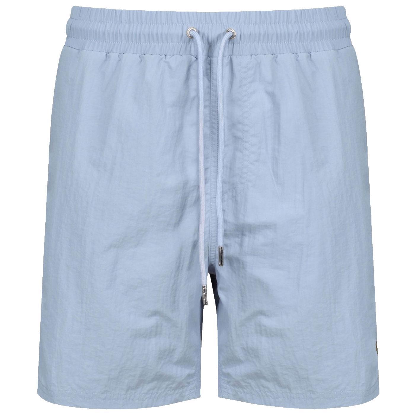 Great LUKE SPORT Mens Retro Swim Shorts SOFT SKY
