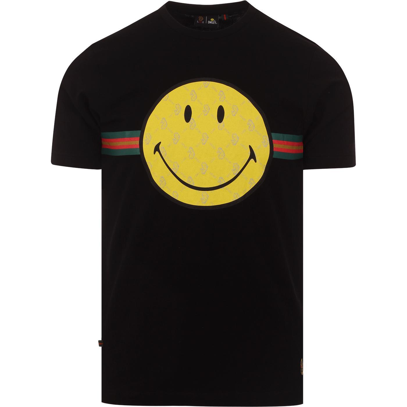 LUKE x SMILEY Happy Days Retro Rave Tee (Black)