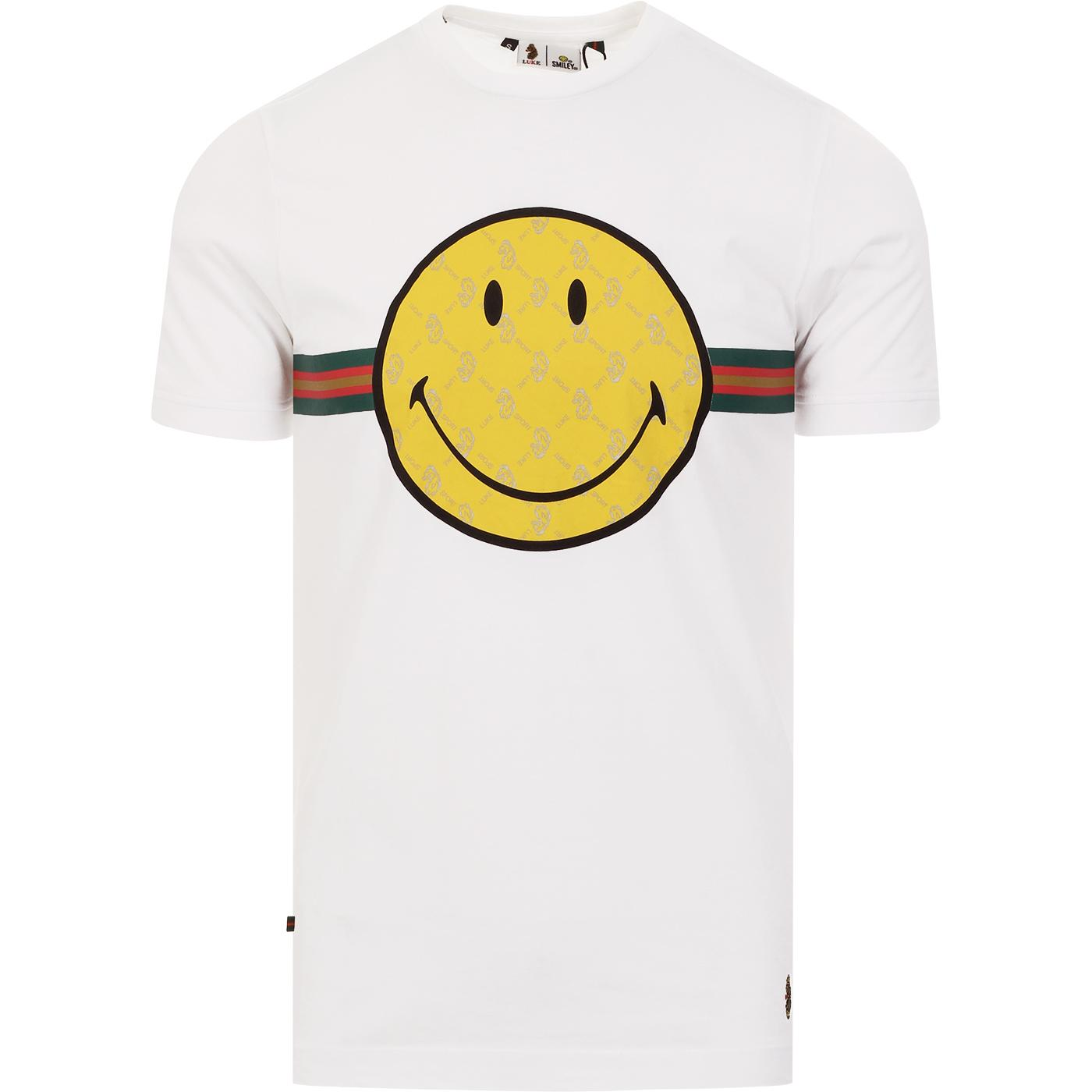 LUKE x SMILEY Happy Days Retro Rave Tee (White)
