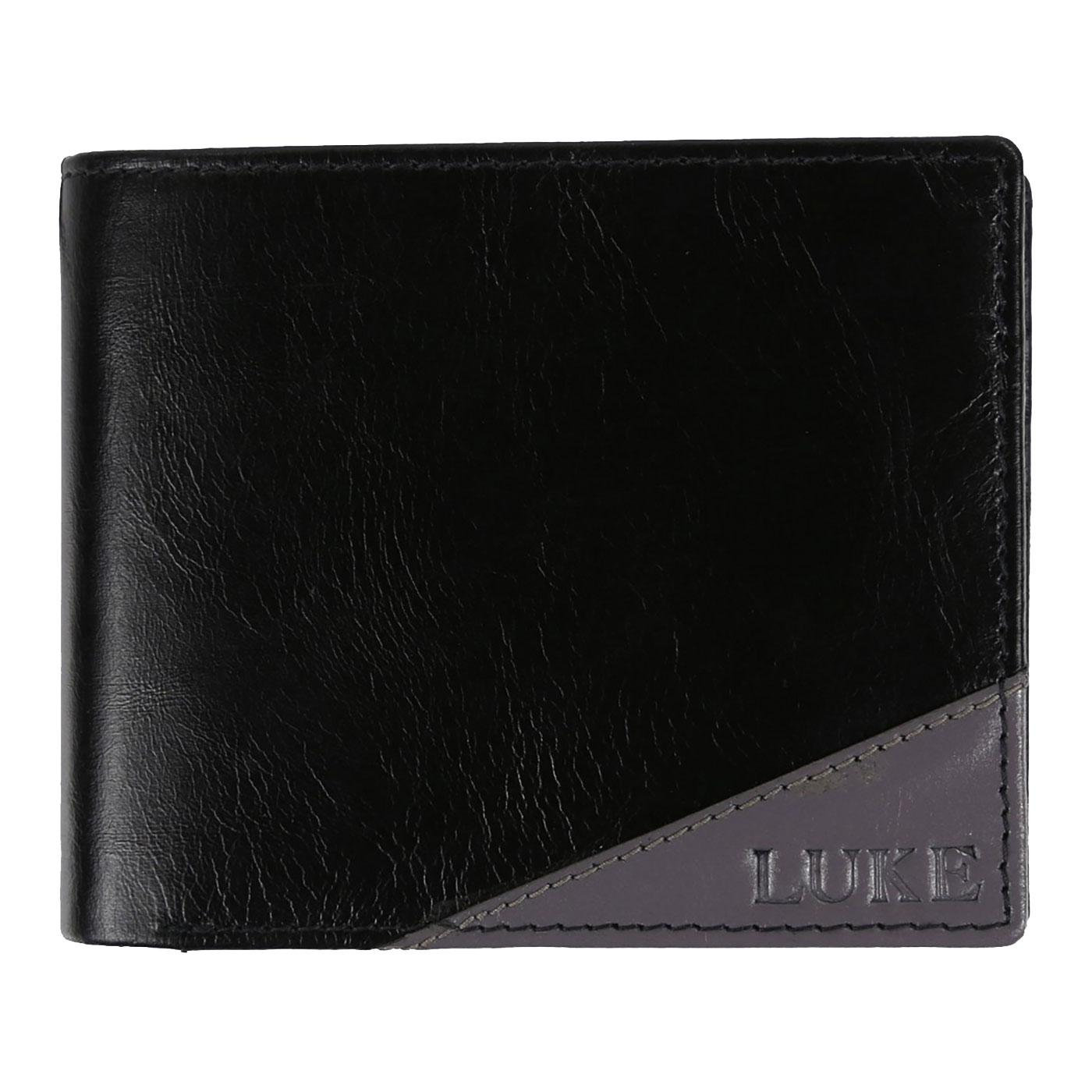 Hector LUKE Retro Contrast Leather Bi-Fold Wallet