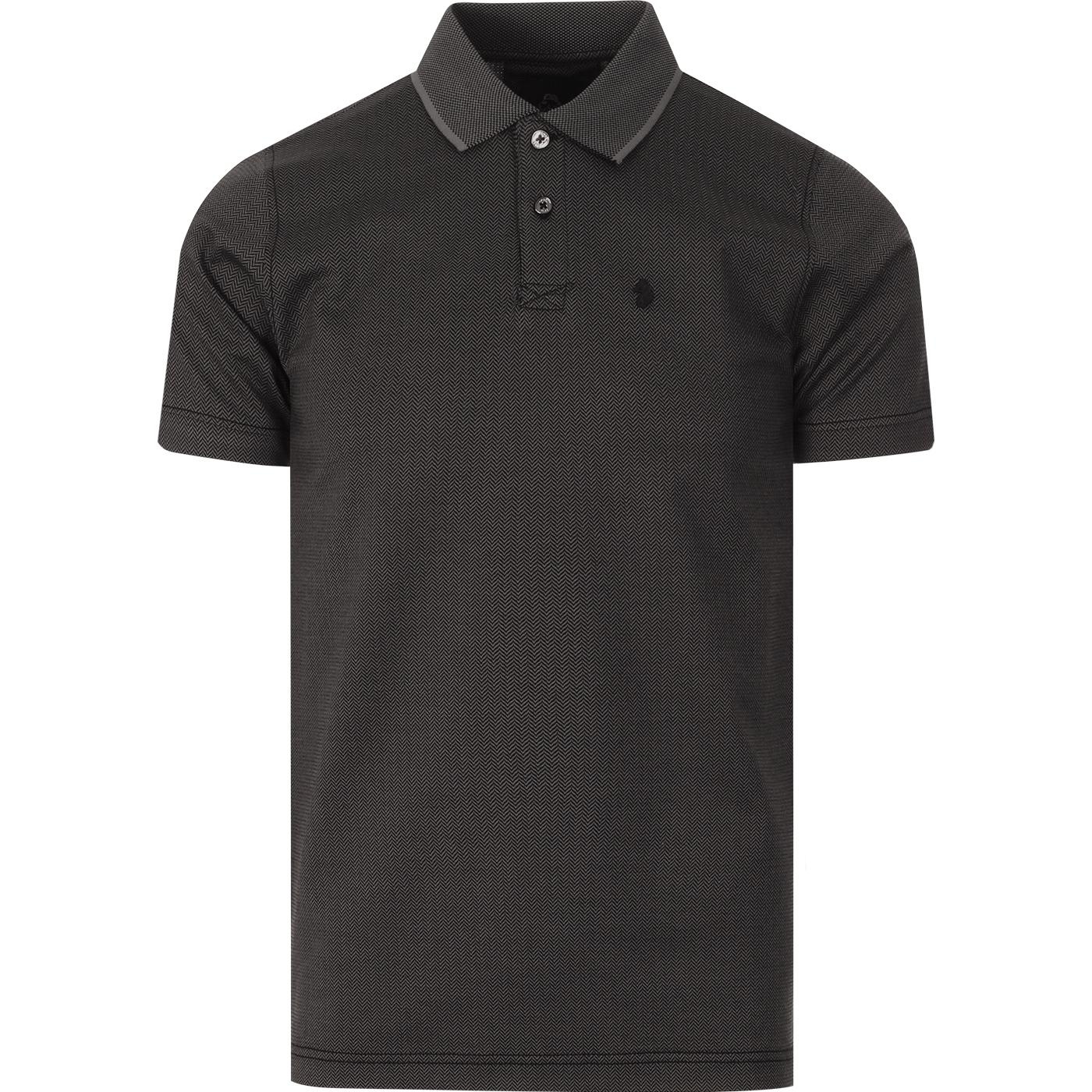 Herringboner LUKE Retro Mod Herringbone Polo Shirt