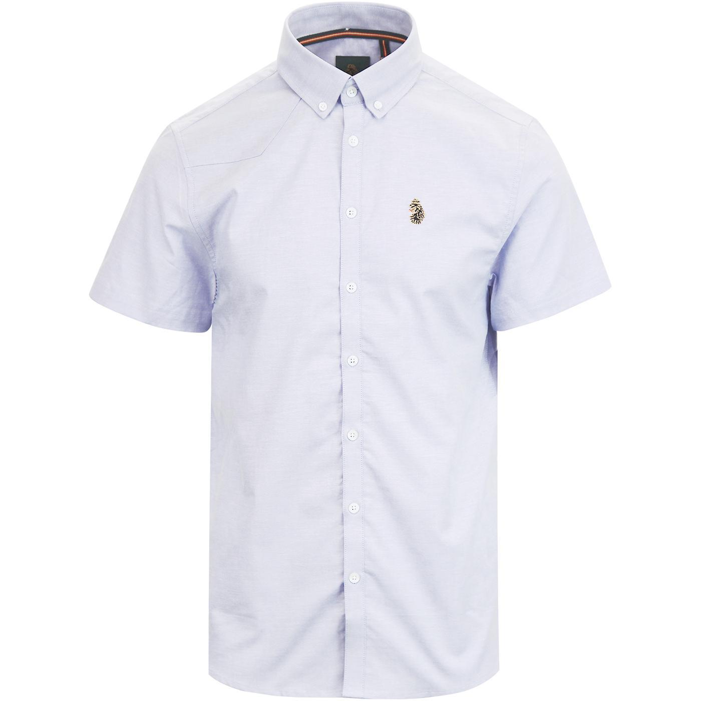 Jimmy Stretch LUKE Retro Slim Fit Oxford Shirt SKY