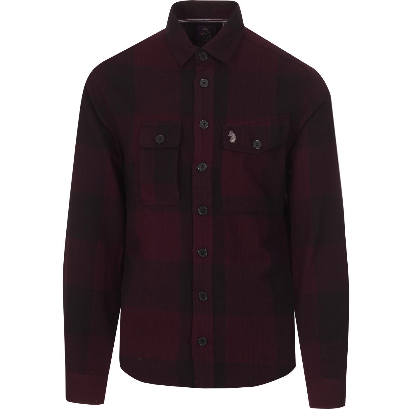 Johnny Mase LUKE Utility Pocket Flannel Overshirt