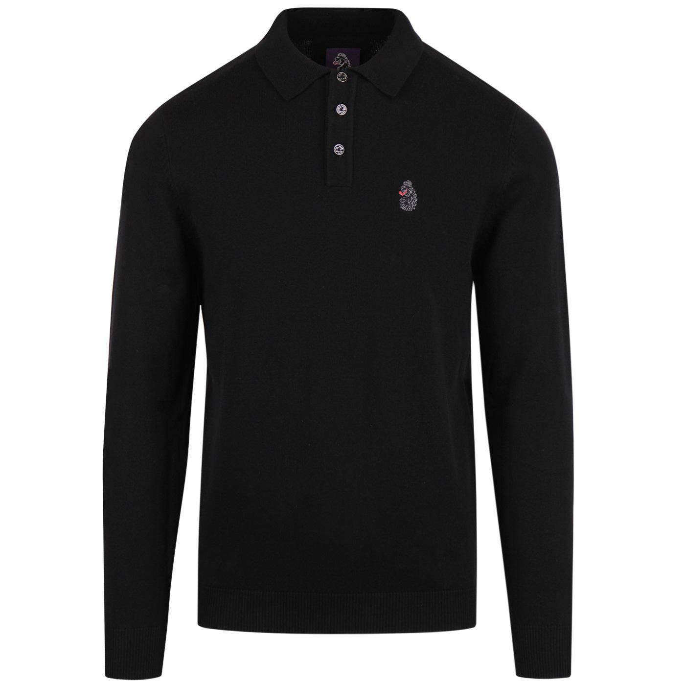 Magnesium LUKE Retro Mod Fine Knitted Polo Shirt