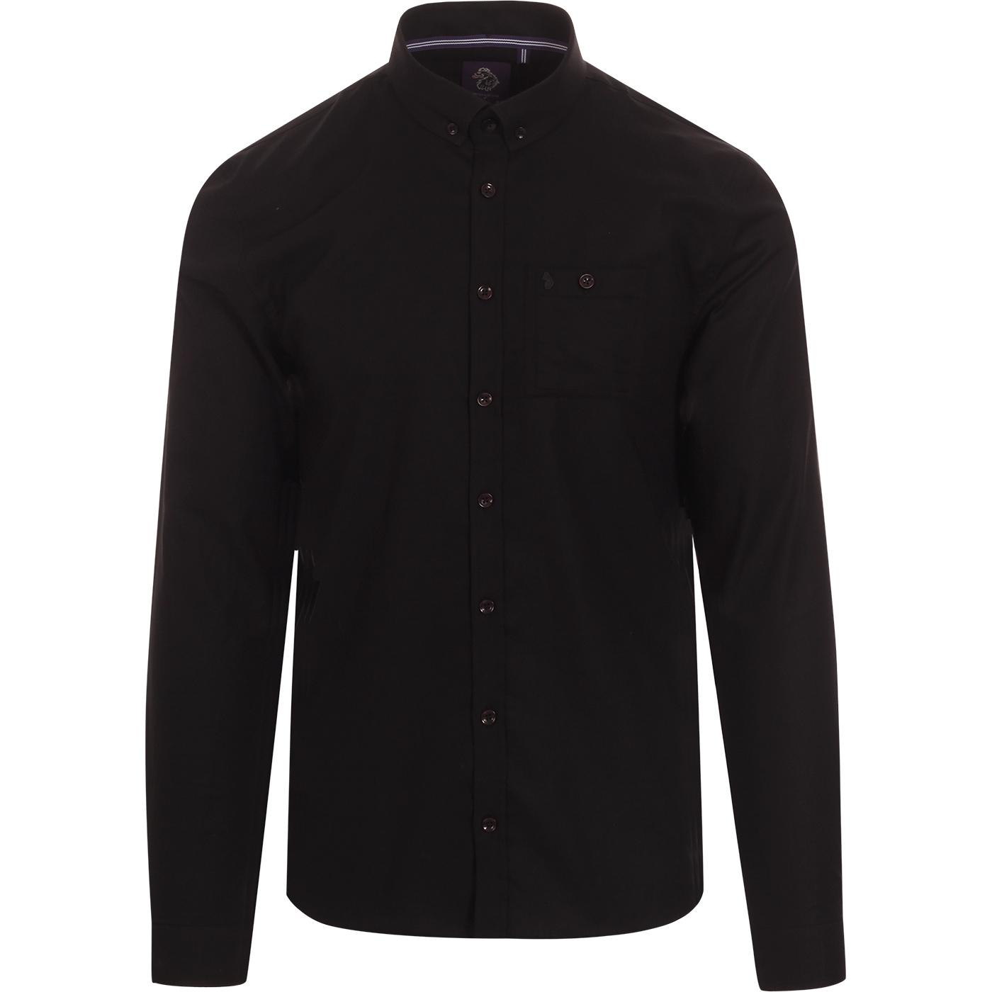 Shirt Happens LUKE Texture Collar Oxford Shirt (B)