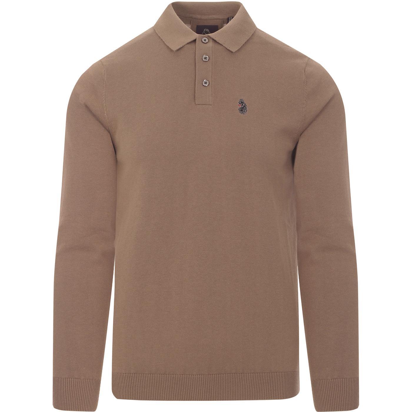 Magnesium LUKE Retro Mod Fine Knit Polo Shirt (F)