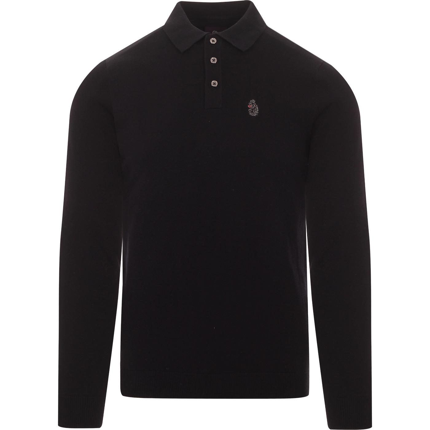 Magnesium LUKE Retro Mod Fine Knit Polo Shirt (VDN