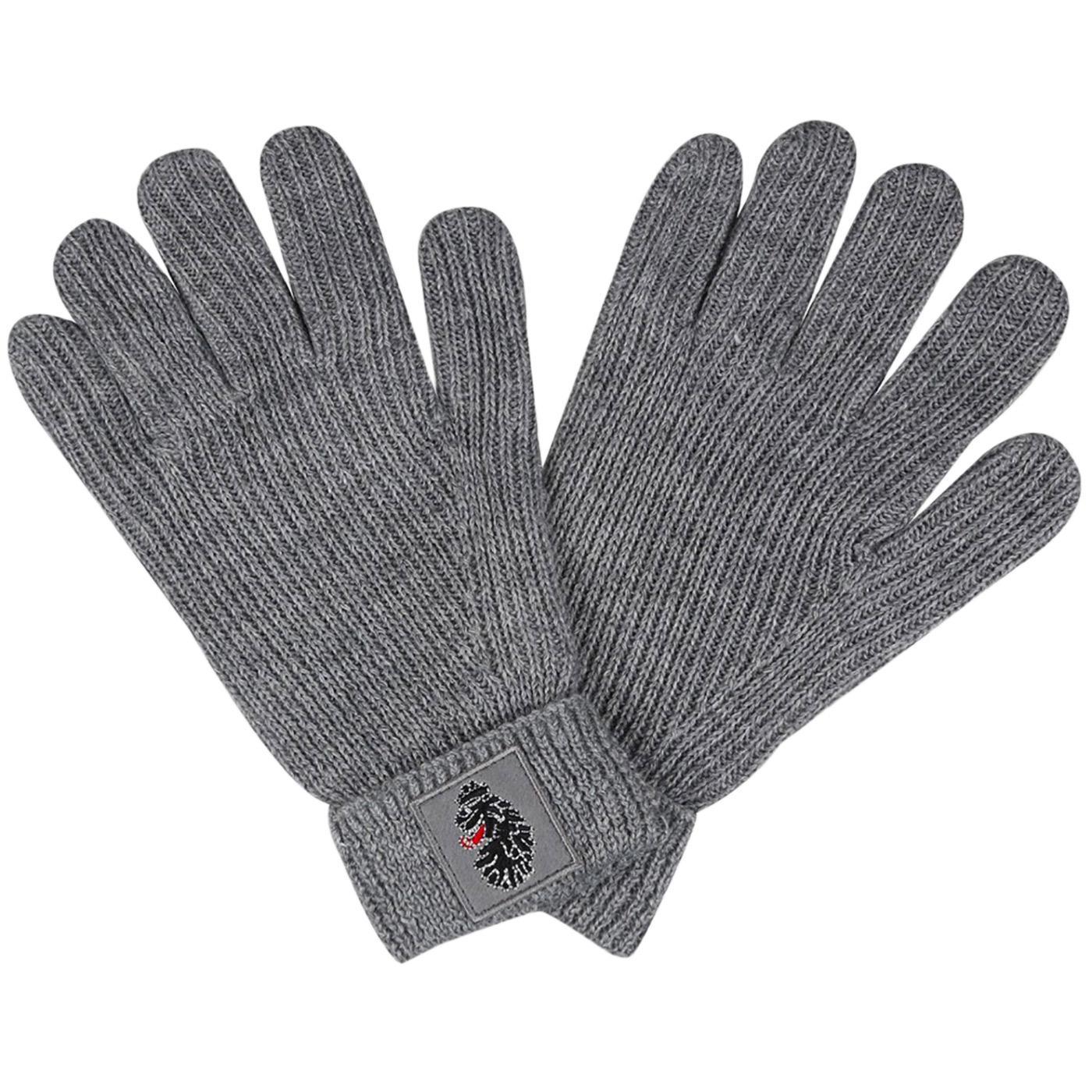 Milo LUKE Retro Knitted Fleece Lined Gloves (Grey)
