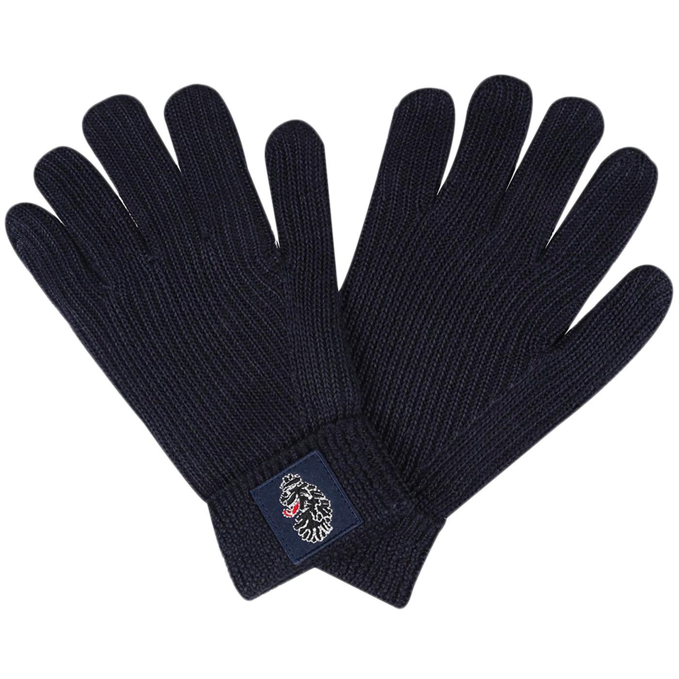 Milo LUKE Retro Knitted Fleece Lined Gloves (Navy)