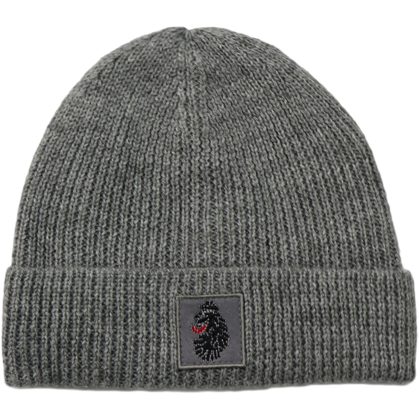 Nash LUKE Retro Knitted Cuffed Beanie Hat (Grey)