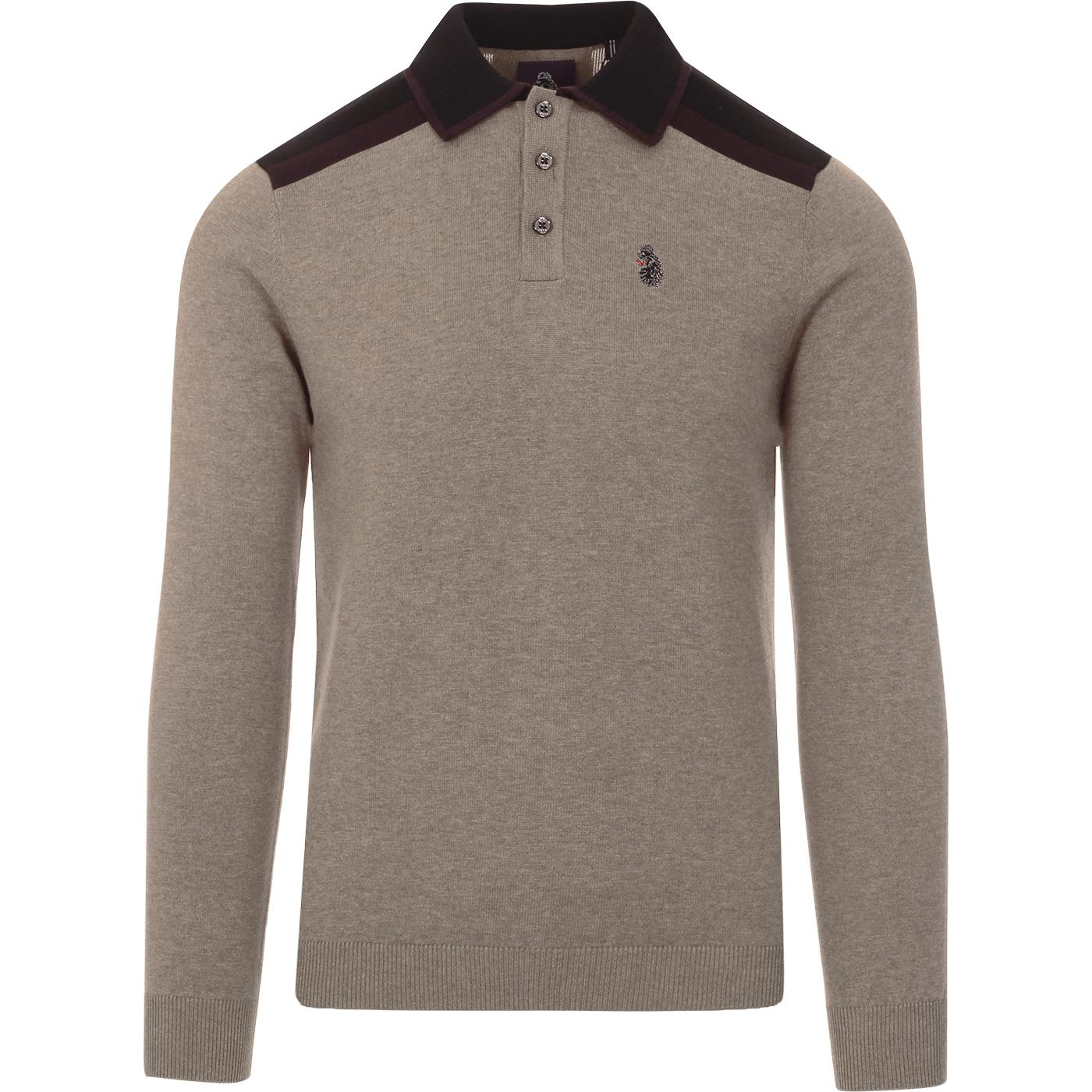 Oh Yeah Oh Yeah LUKE Retro Mod Knitted Polo (MO)