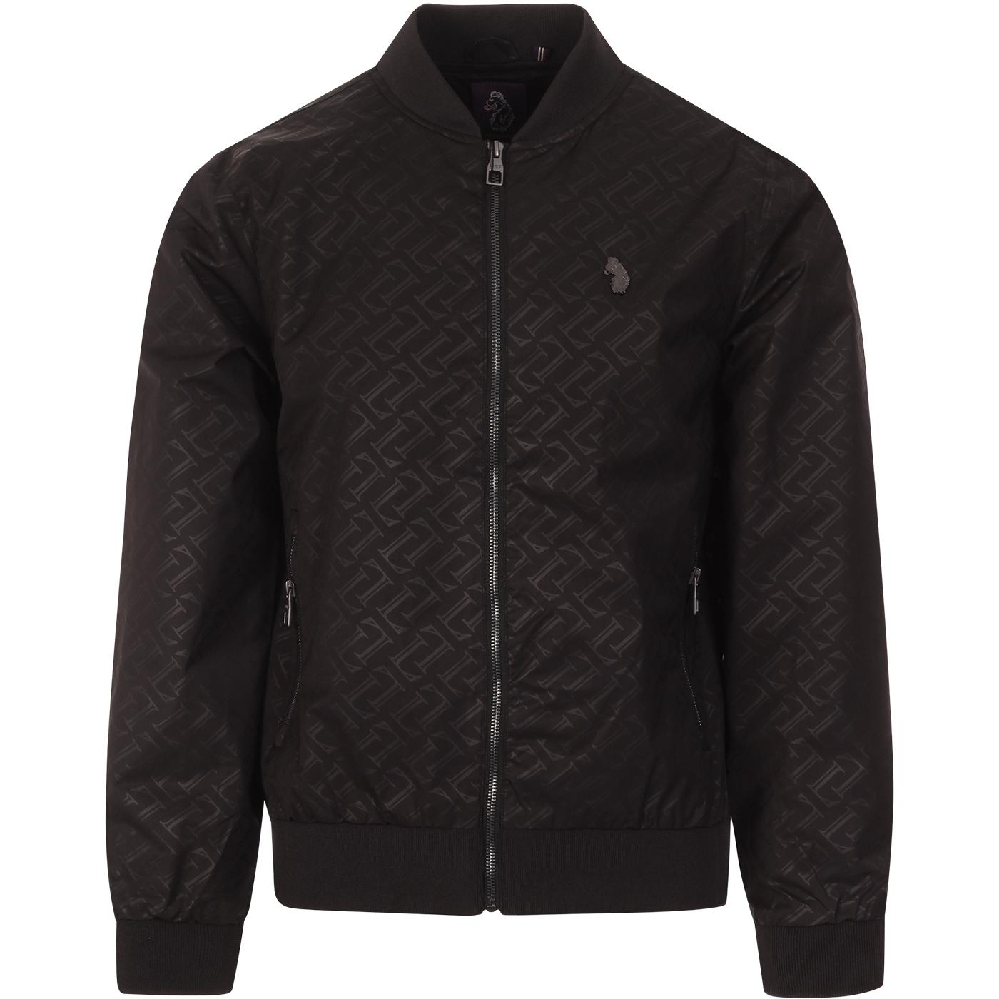 Night Owl LUKE Men's Signature Bomber Jacket BLACK